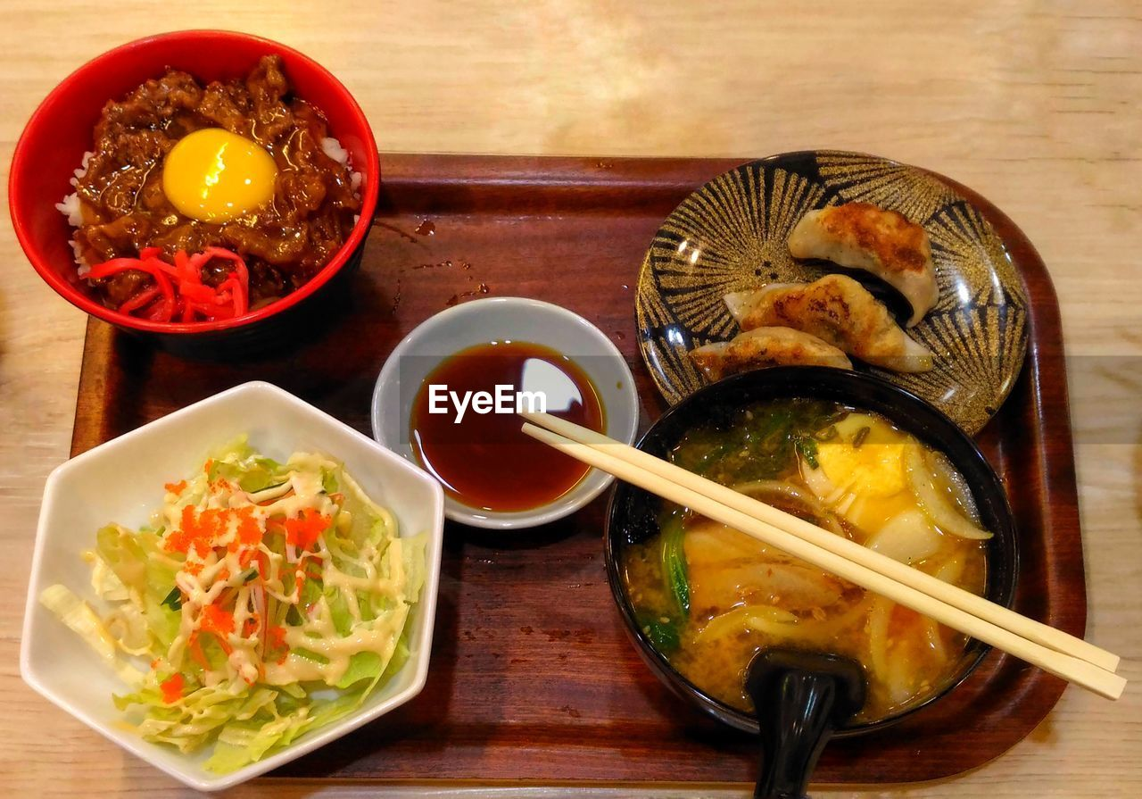 bowl, food, food and drink, table, chopsticks, plate, indoors, ready-to-eat, freshness, serving size, no people, healthy eating, soup, meal, close-up
