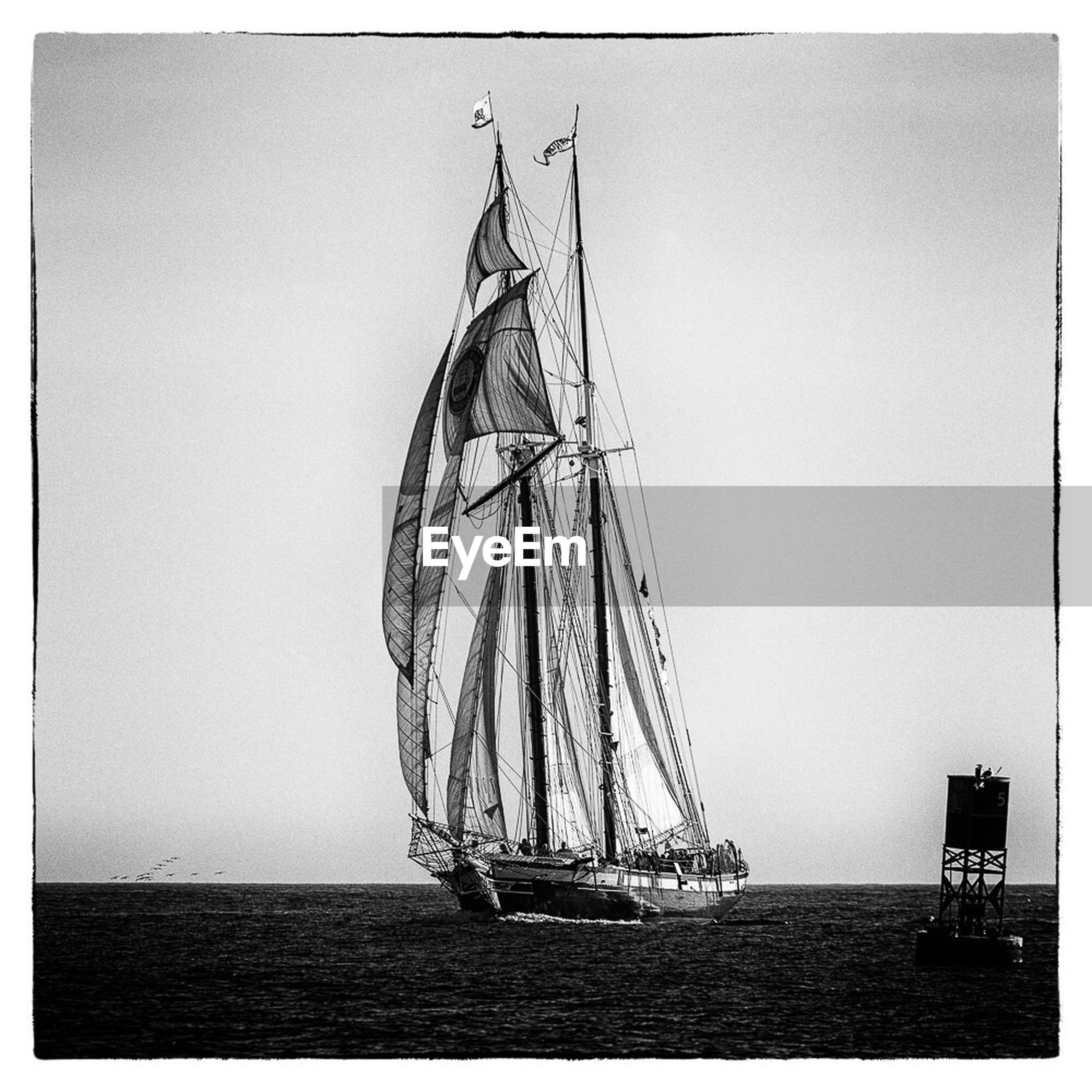 sea, water, horizon over water, transfer print, clear sky, nautical vessel, transportation, waterfront, boat, auto post production filter, copy space, mode of transport, tranquility, tranquil scene, nature, sailboat, scenics, sky, beauty in nature, beach