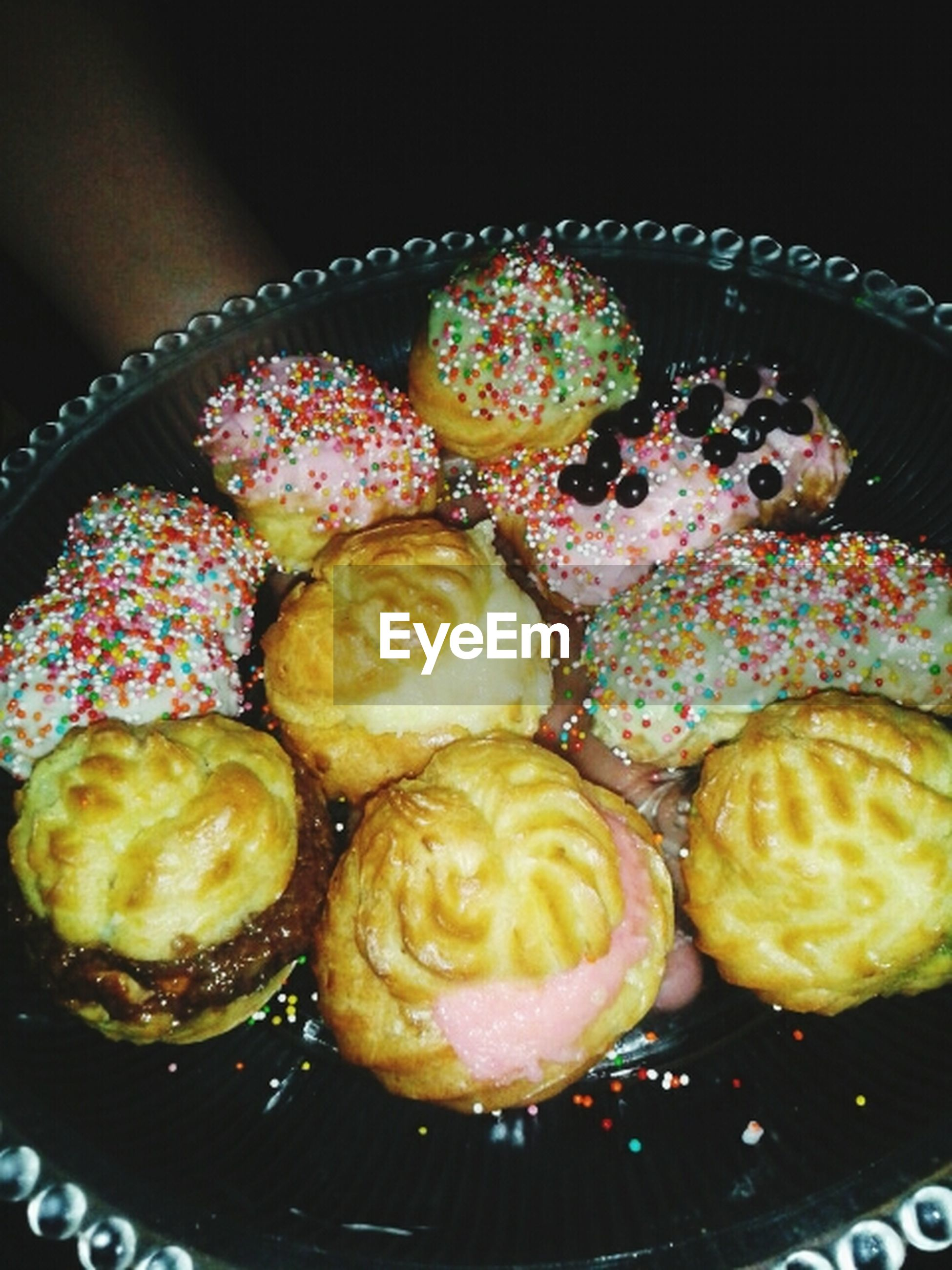 indoors, food, freshness, sweet food, food and drink, indulgence, dessert, unhealthy eating, ready-to-eat, still life, high angle view, temptation, multi colored, close-up, abundance, cake, variation, large group of objects, baked, no people