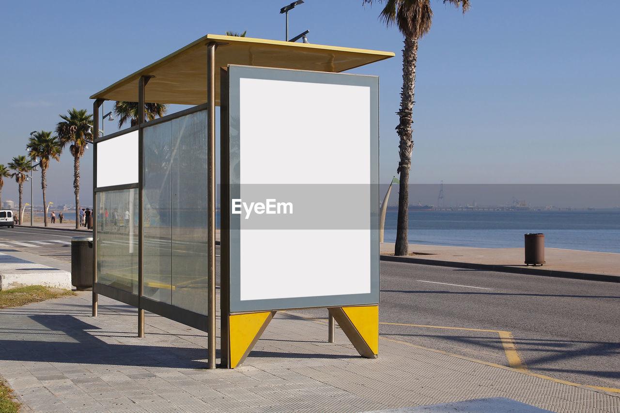 Bus Stop On Roadside