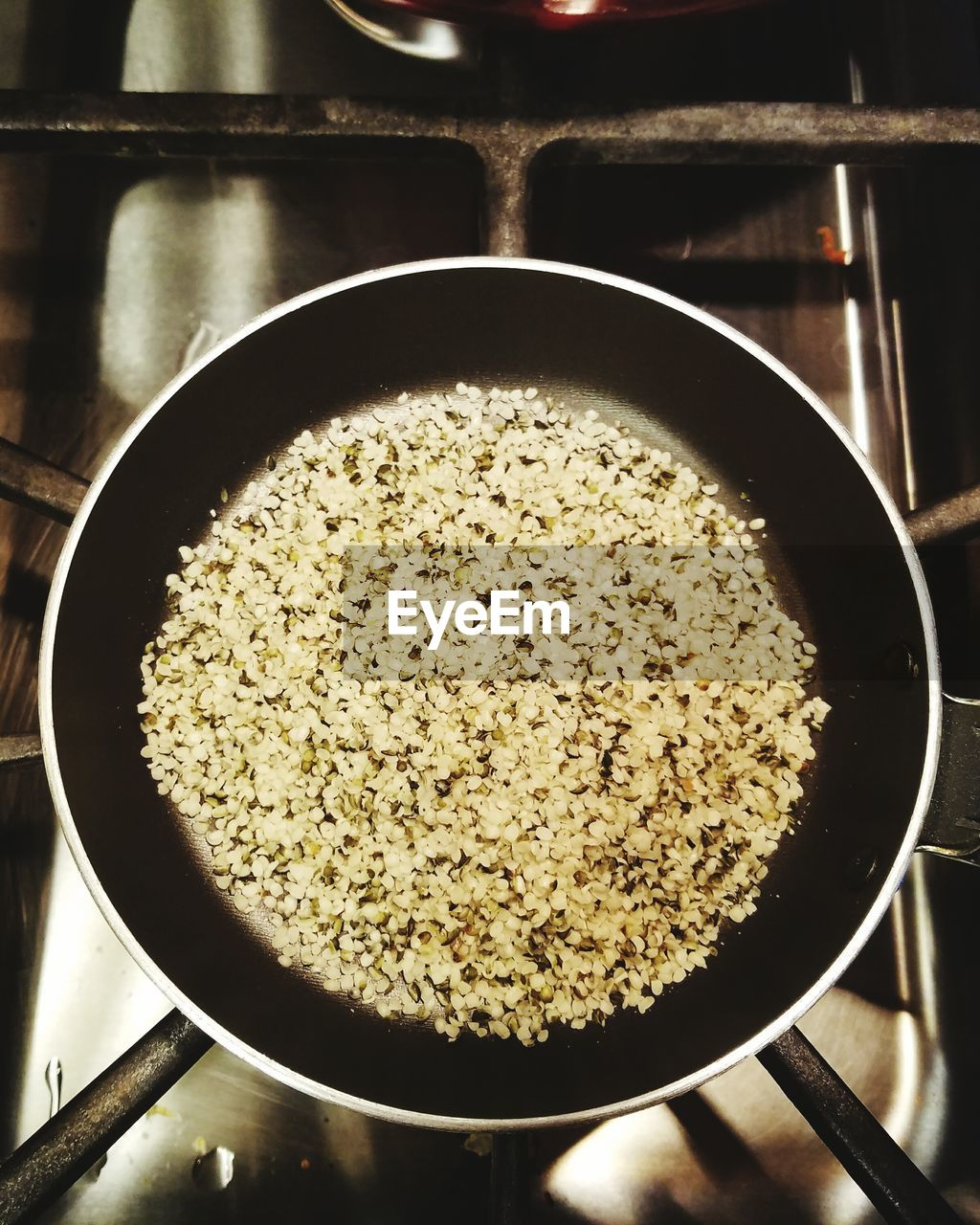 Close-up of food in frying pan