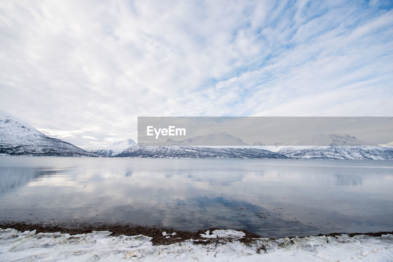 snow, cold temperature, winter, mountain, nature, beauty in nature, ice, lake, scenics, tranquil scene, water, tranquility, sky, frozen, landscape, no people, outdoors, snowcapped mountain, glacier, mountain range, iceberg, day, salt - mineral