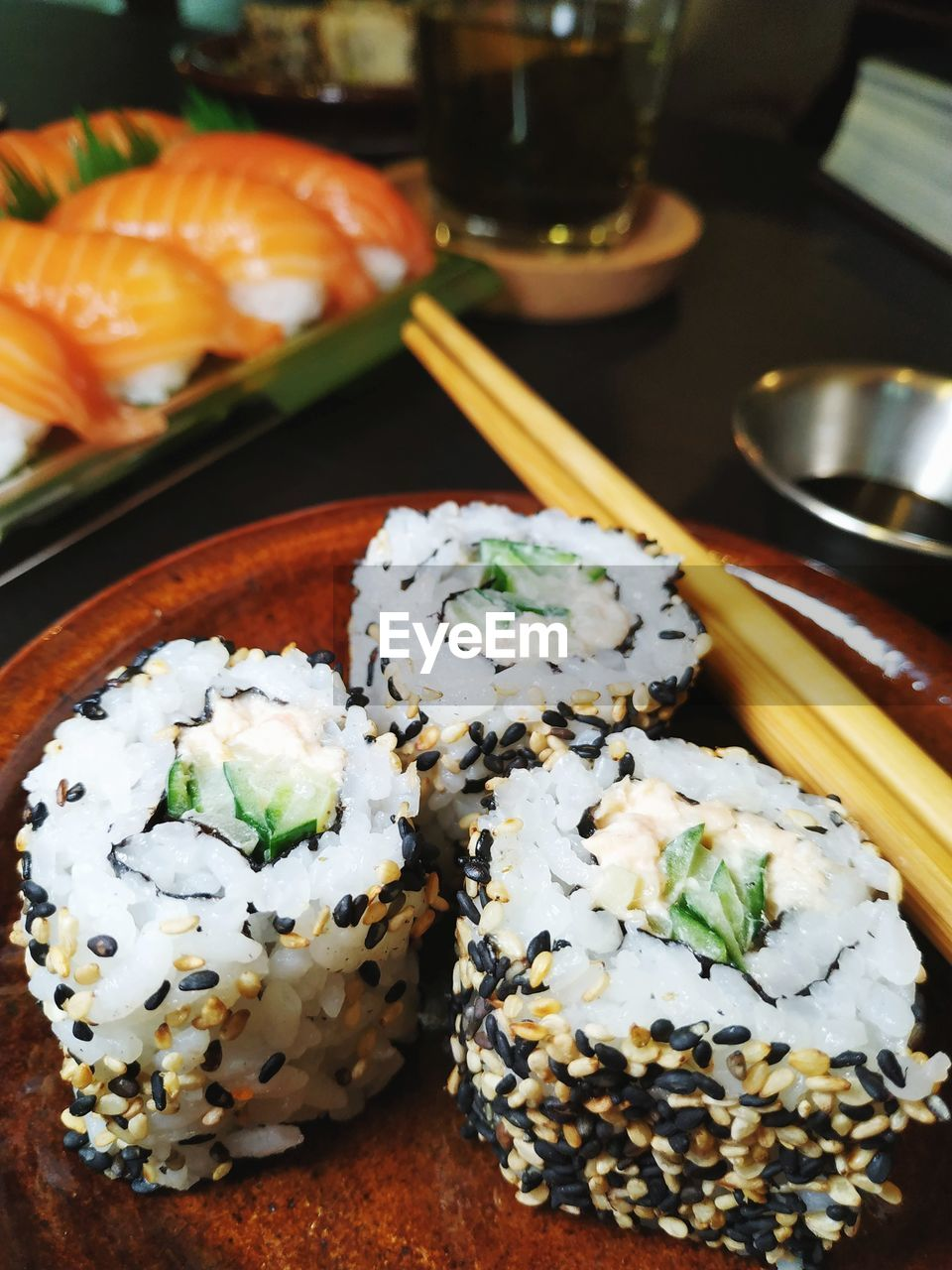 food and drink, food, sushi, ready-to-eat, freshness, rice, indoors, japanese food, still life, plate, asian food, healthy eating, rice - food staple, serving size, wellbeing, no people, seafood, table, close-up, garnish, soy sauce, tray, temptation, caviar, dinner