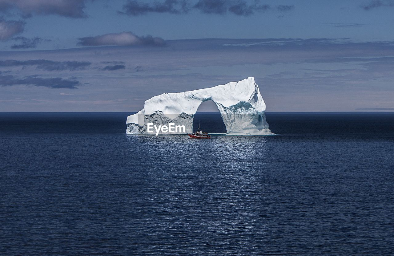 Arch Formed In Iceberg