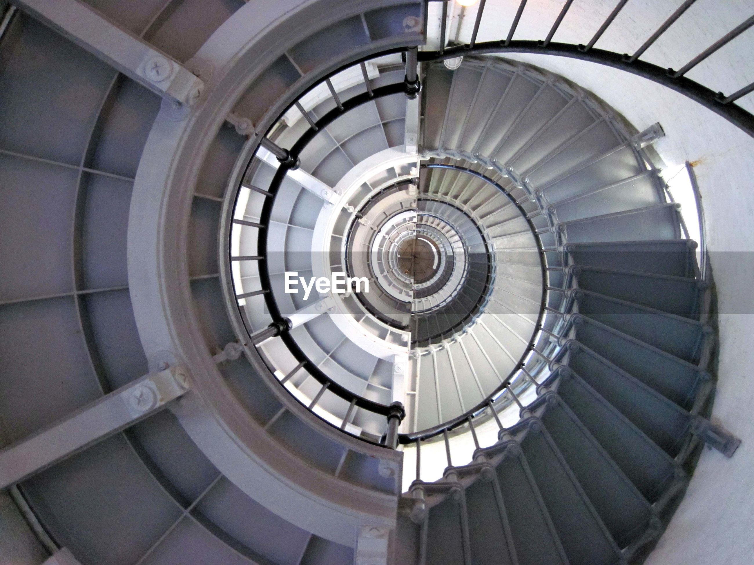 Double exposure of spiral staircase