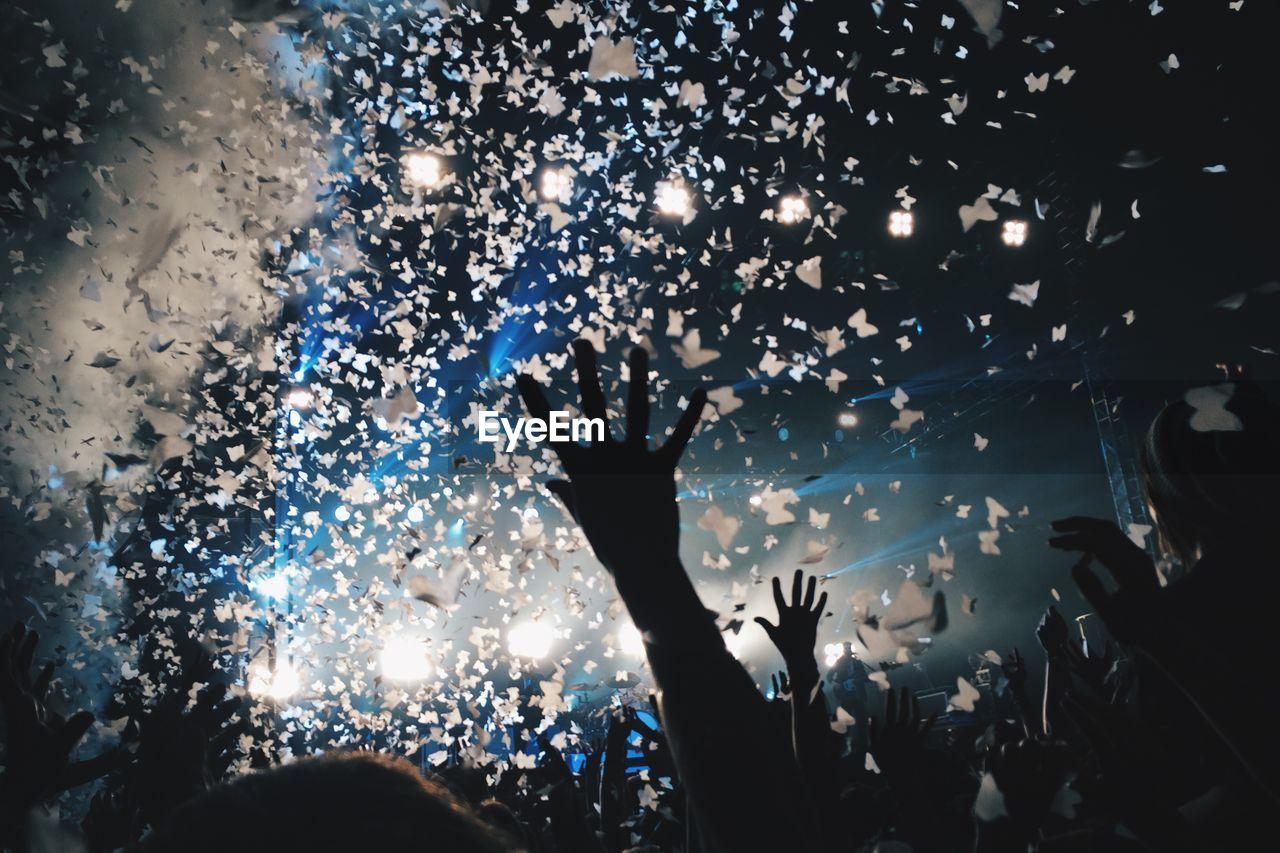 Crowd Enjoying At Music Concert At Night