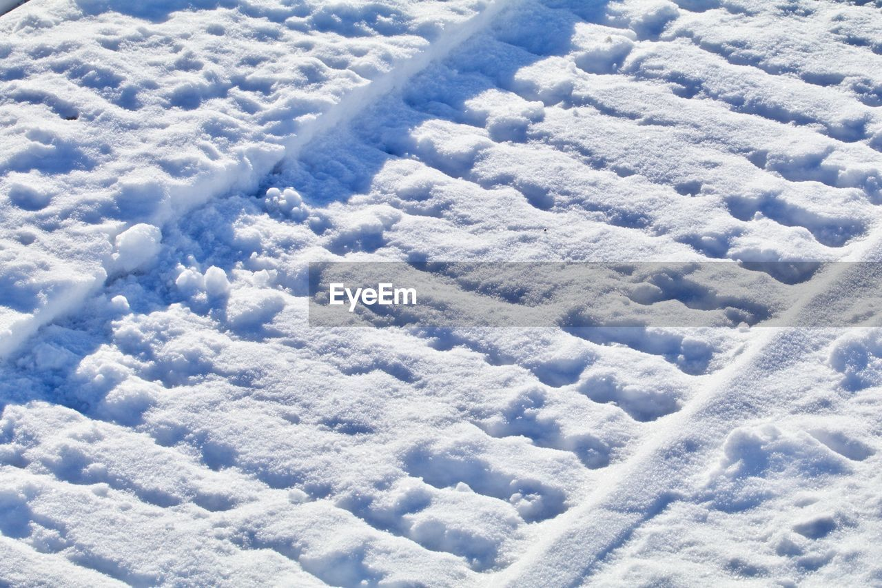 FULL FRAME SHOT OF SNOW COVERED WITH CLOUDSCAPE