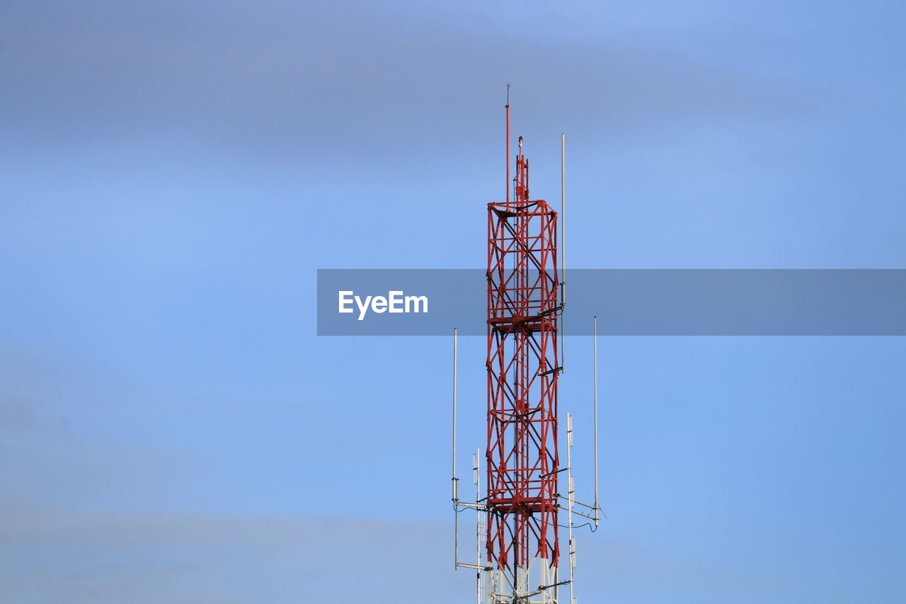 technology, built structure, architecture, sky, tower, communication, blue, low angle view, global communications, connection, no people, day, nature, tall - high, broadcasting, outdoors, satellite, antenna - aerial, wireless technology