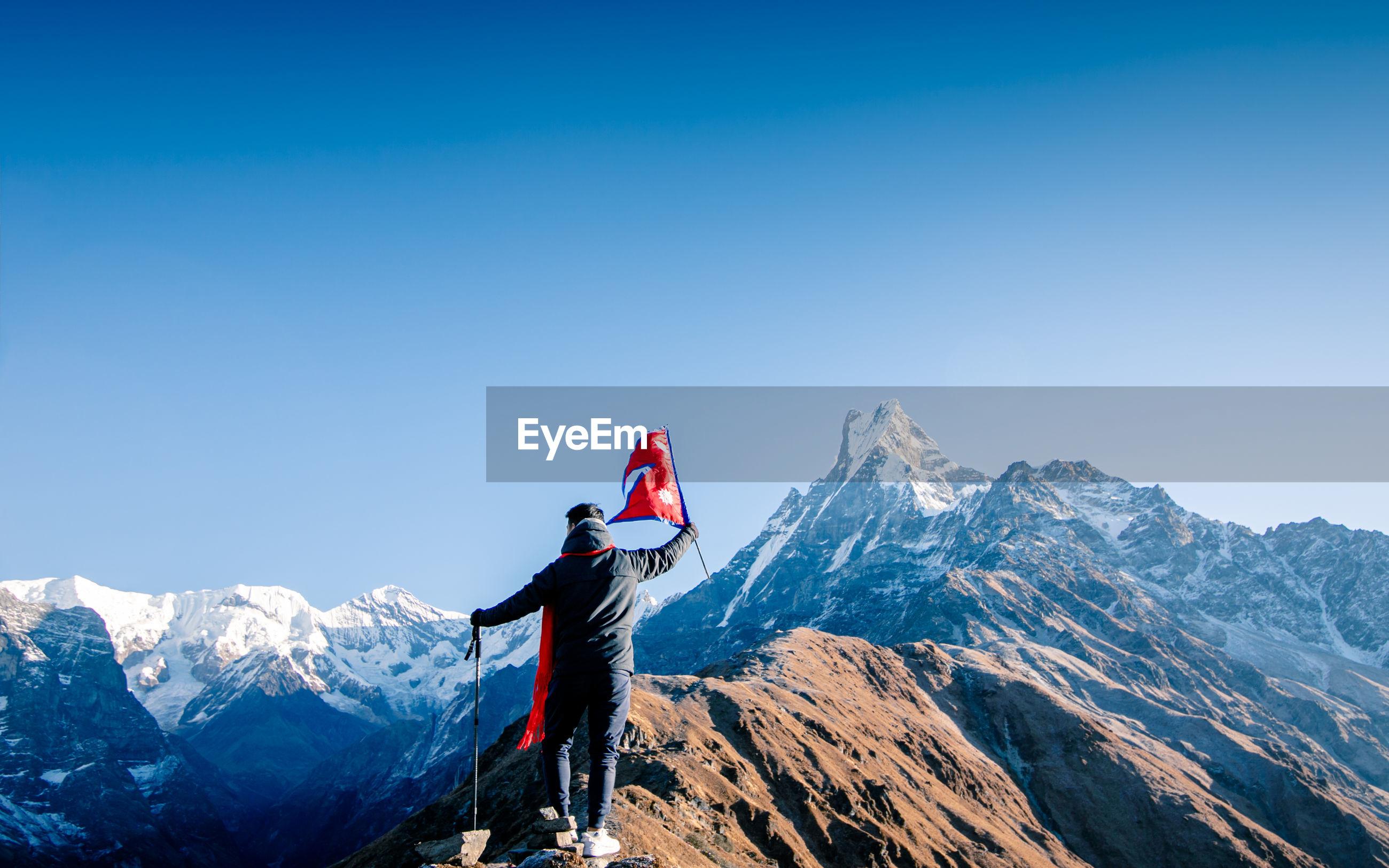 Adventure trekking route mardi himal trek, kaski, nepal.