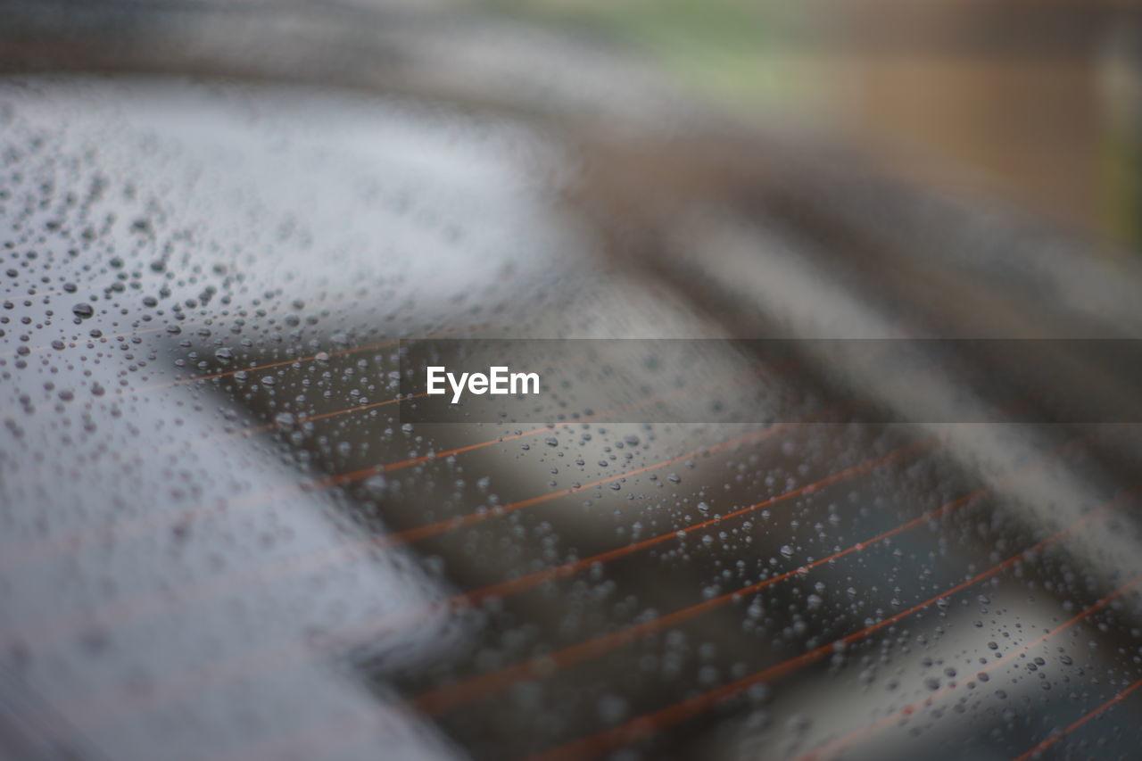 Detail shot of wet car