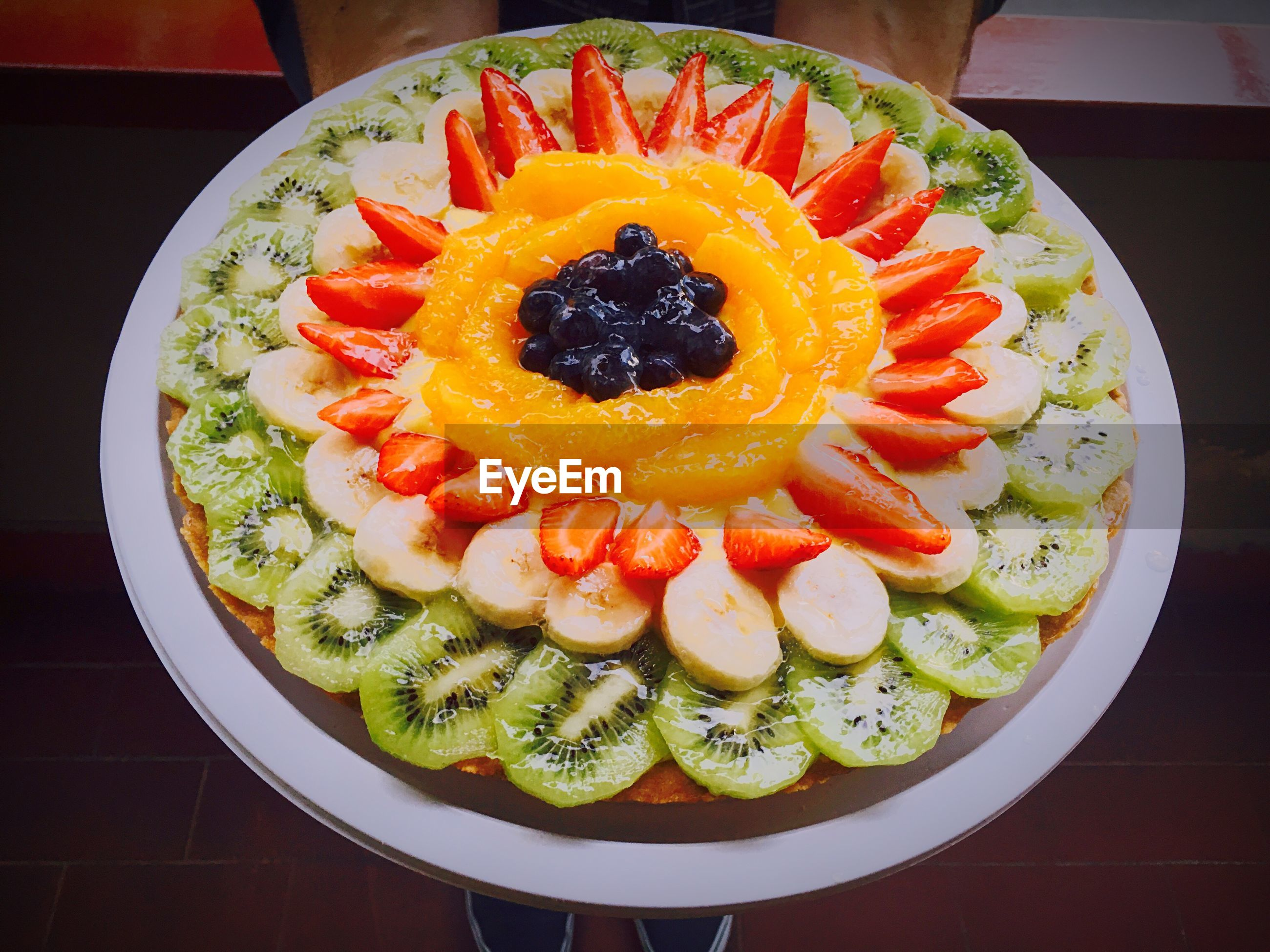 indoors, food and drink, food, freshness, plate, still life, ready-to-eat, healthy eating, table, high angle view, indulgence, directly above, fruit, bowl, multi colored, sweet food, slice, close-up, serving size, no people