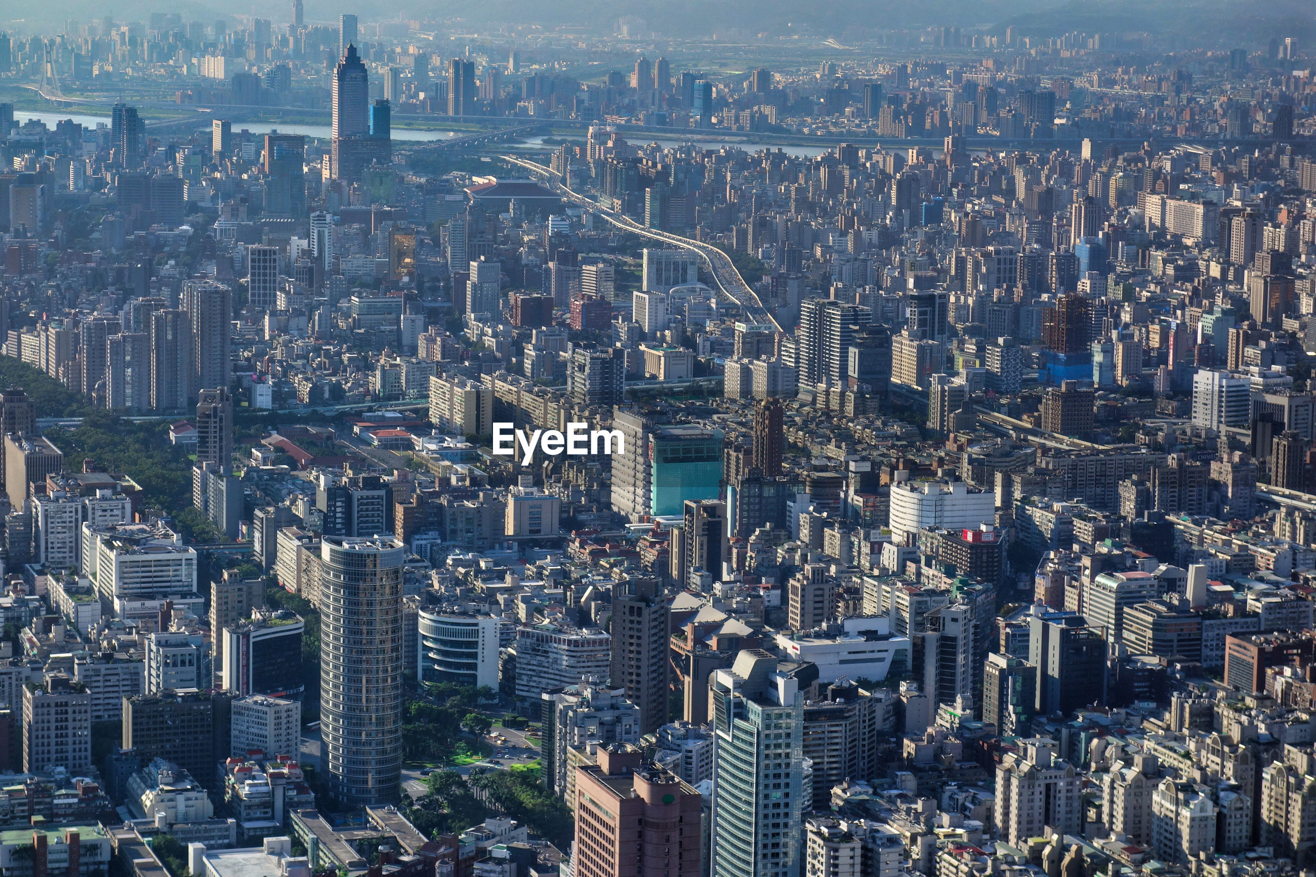 Overlook of taipei with hundreds of skyscrapers