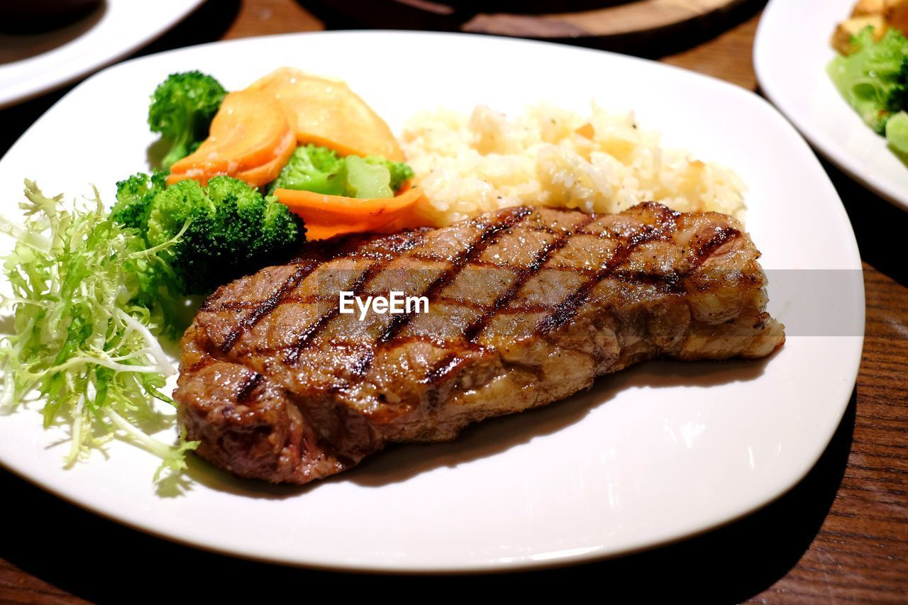 food, food and drink, plate, vegetable, freshness, meat, ready-to-eat, serving size, healthy eating, close-up, indoors, table, no people, day