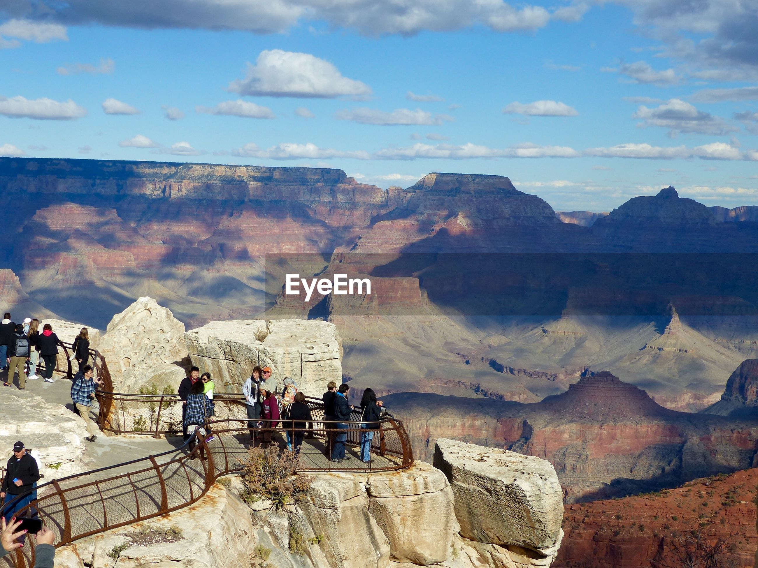Tourists at grand canyon lookout
