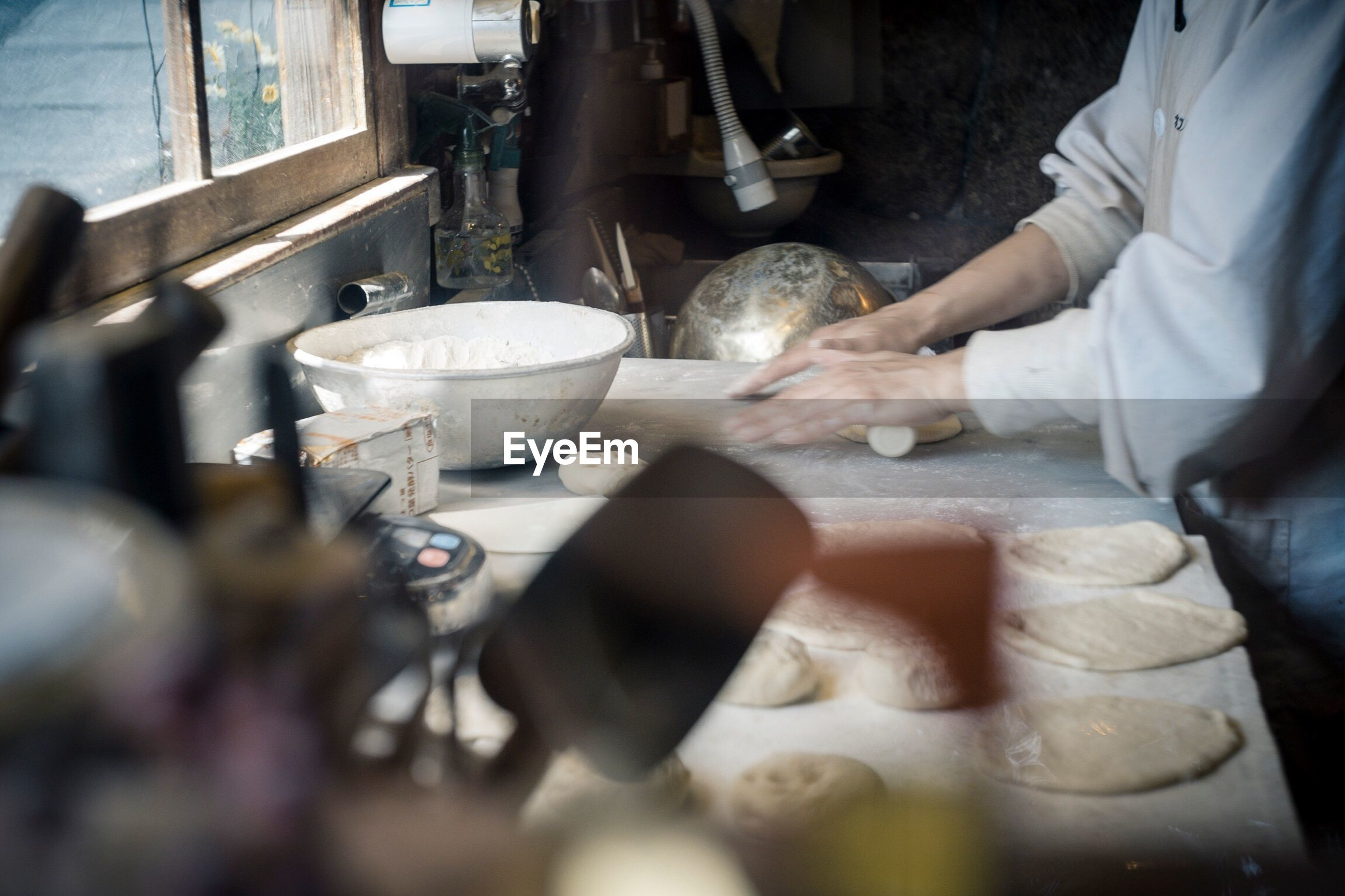 Chef working in bakery