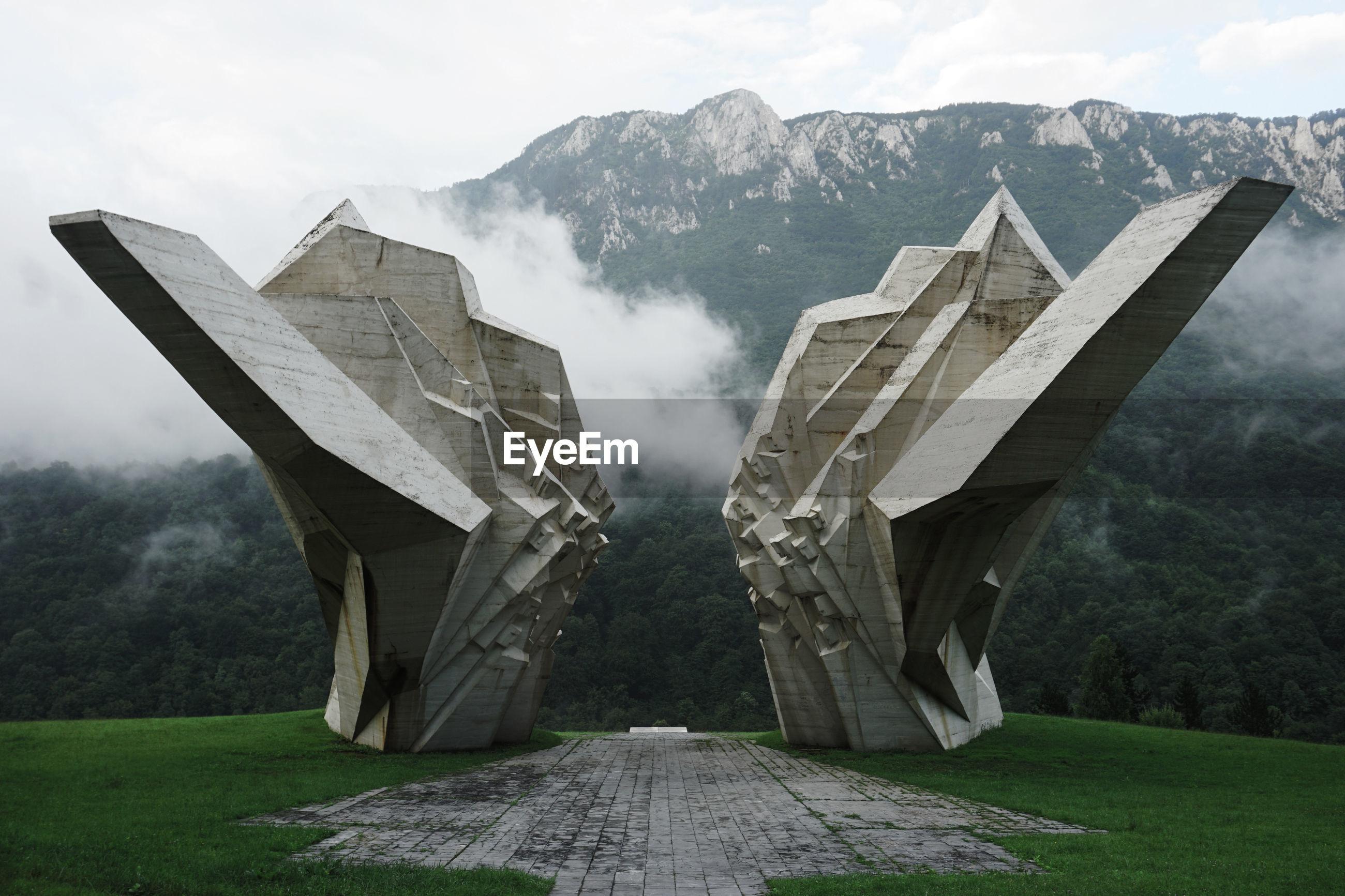 PANORAMIC VIEW OF BRIDGE AGAINST SKY