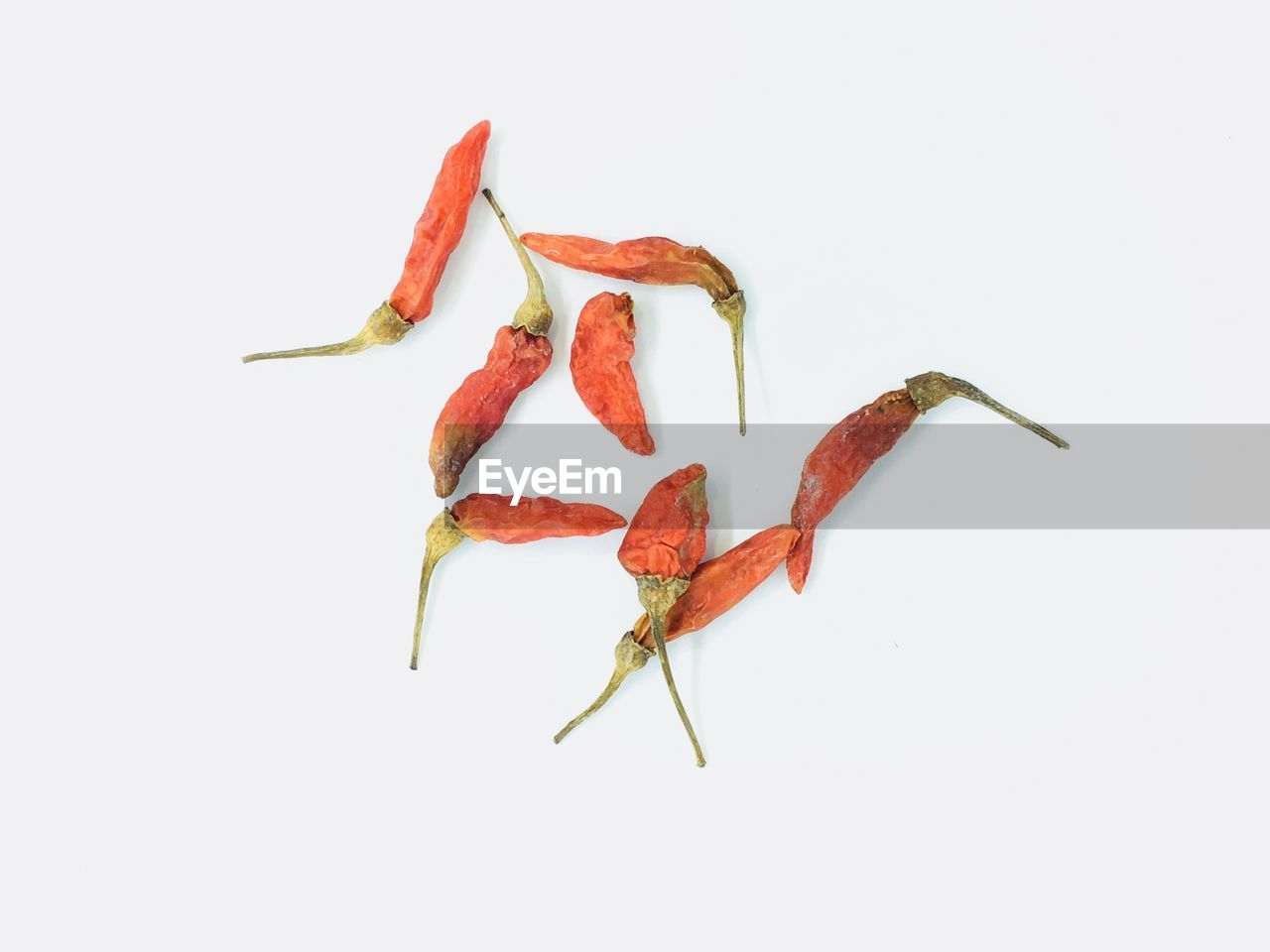 studio shot, white background, close-up, no people, indoors, copy space, still life, red, food and drink, food, plant part, cut out, leaf, freshness, group of objects, plant, nature, autumn, high angle view, chili pepper, leaves