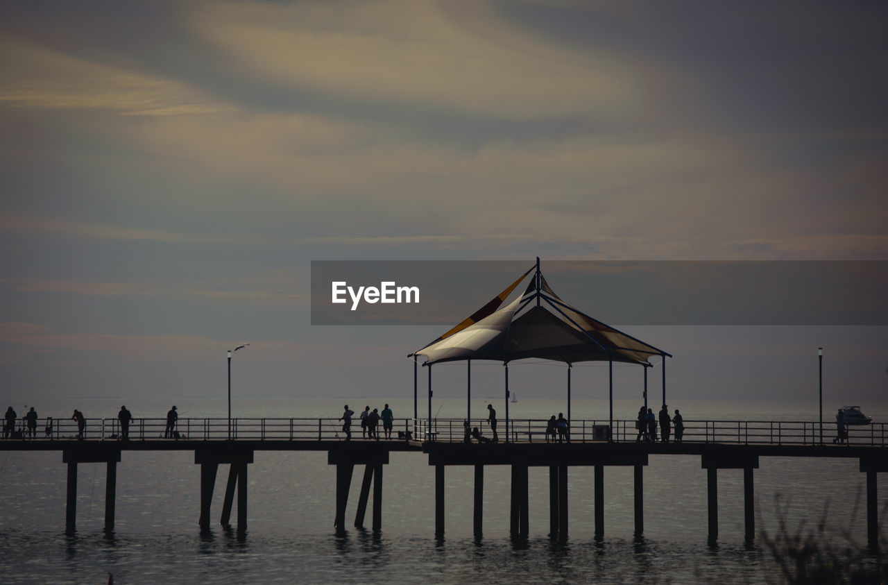 water, sky, sunset, sea, beauty in nature, pier, cloud - sky, scenics - nature, silhouette, nature, built structure, waterfront, tranquility, tranquil scene, architecture, outdoors, idyllic, horizon over water, beach
