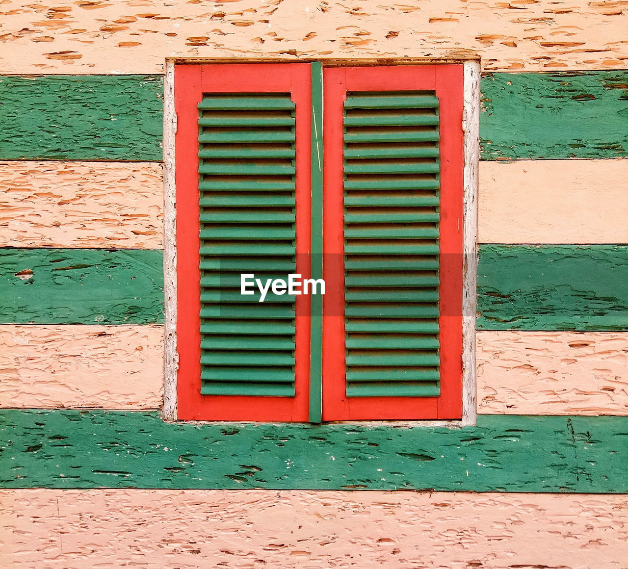 architecture, built structure, building exterior, wall - building feature, no people, green color, day, brick wall, window, wall, building, closed, pattern, brick, backgrounds, security, red, outdoors, safety, protection, turquoise colored