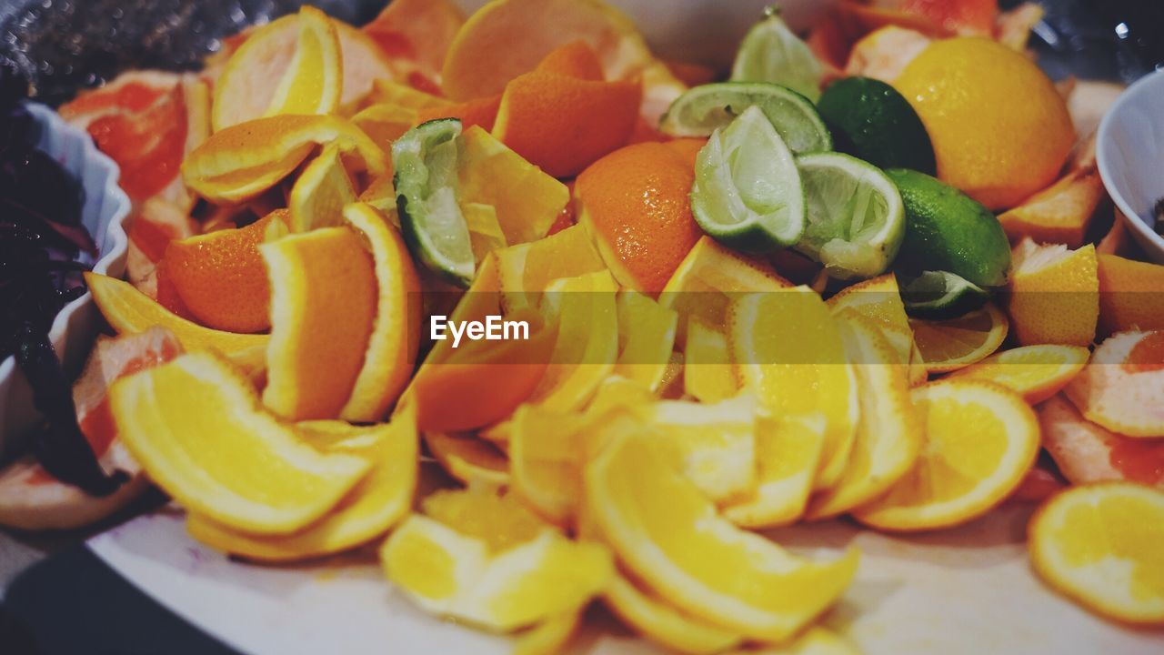food and drink, food, freshness, healthy eating, slice, fruit, close-up, yellow, indoors, no people, ready-to-eat, day