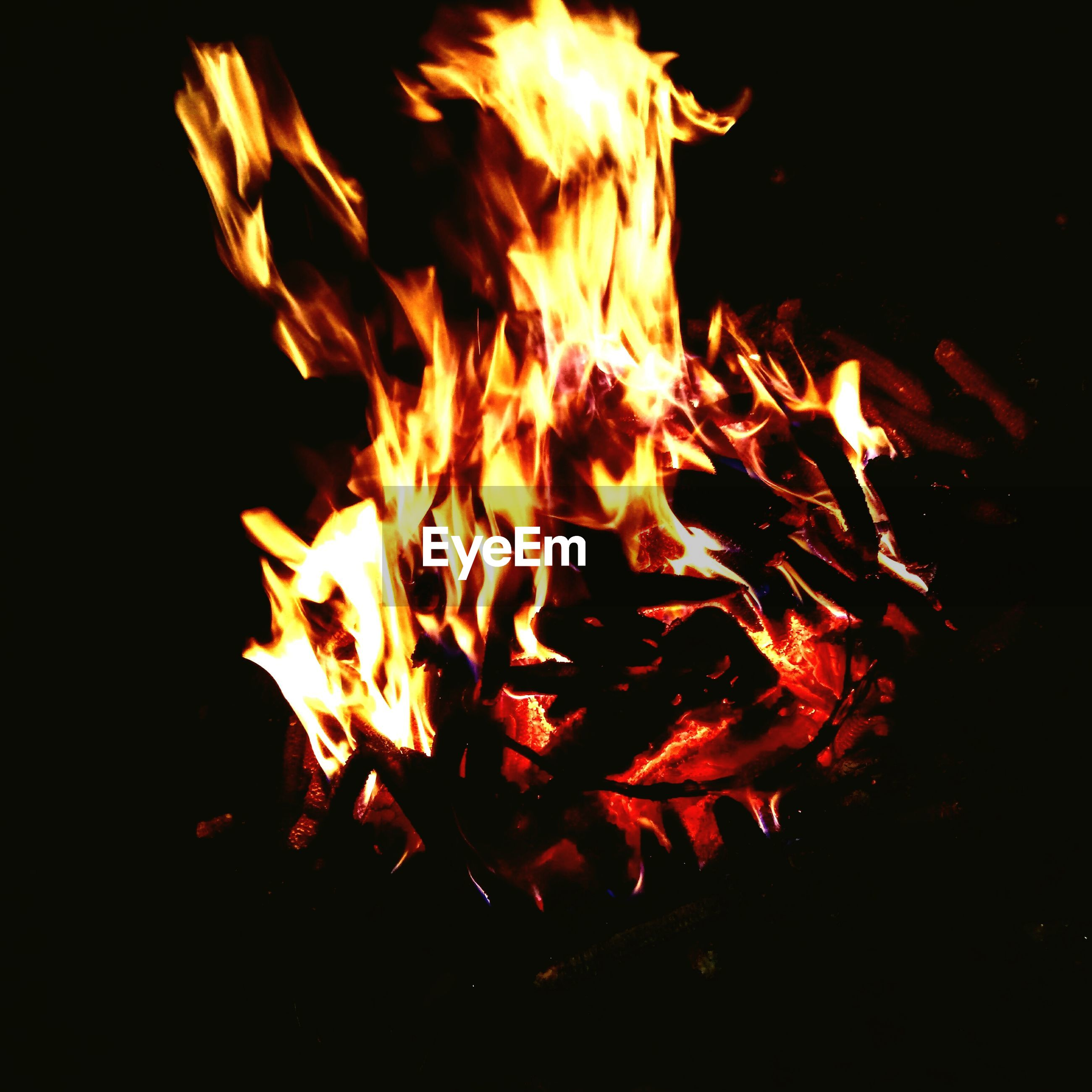 burning, flame, heat - temperature, night, glowing, orange color, no people, bonfire, close-up, motion, outdoors