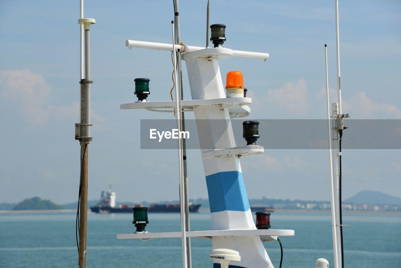 Siren And Radio Signal Equipment On Ferry