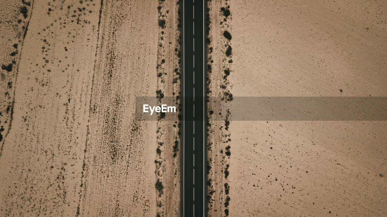 Aerial view of road amidst landscape