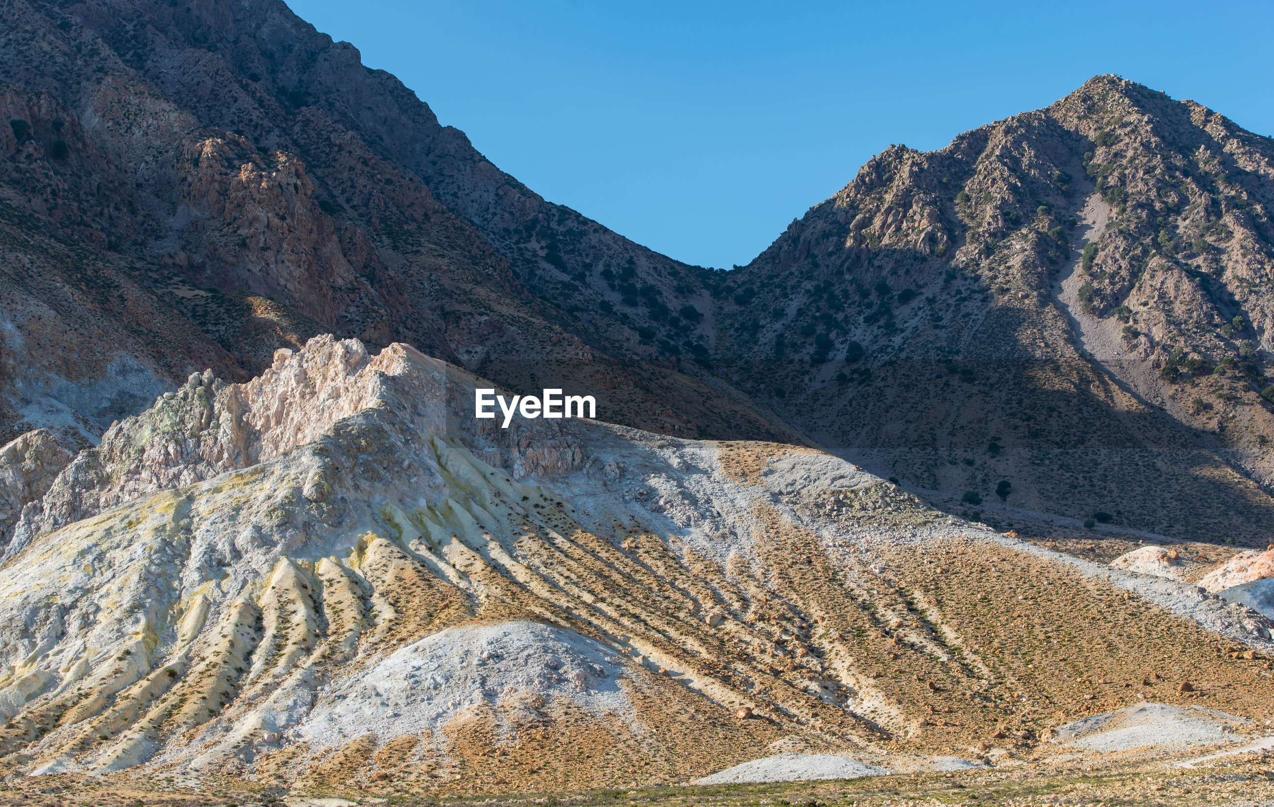 Volcanic crater stefanos in the lakki valley of the island nisyros greece