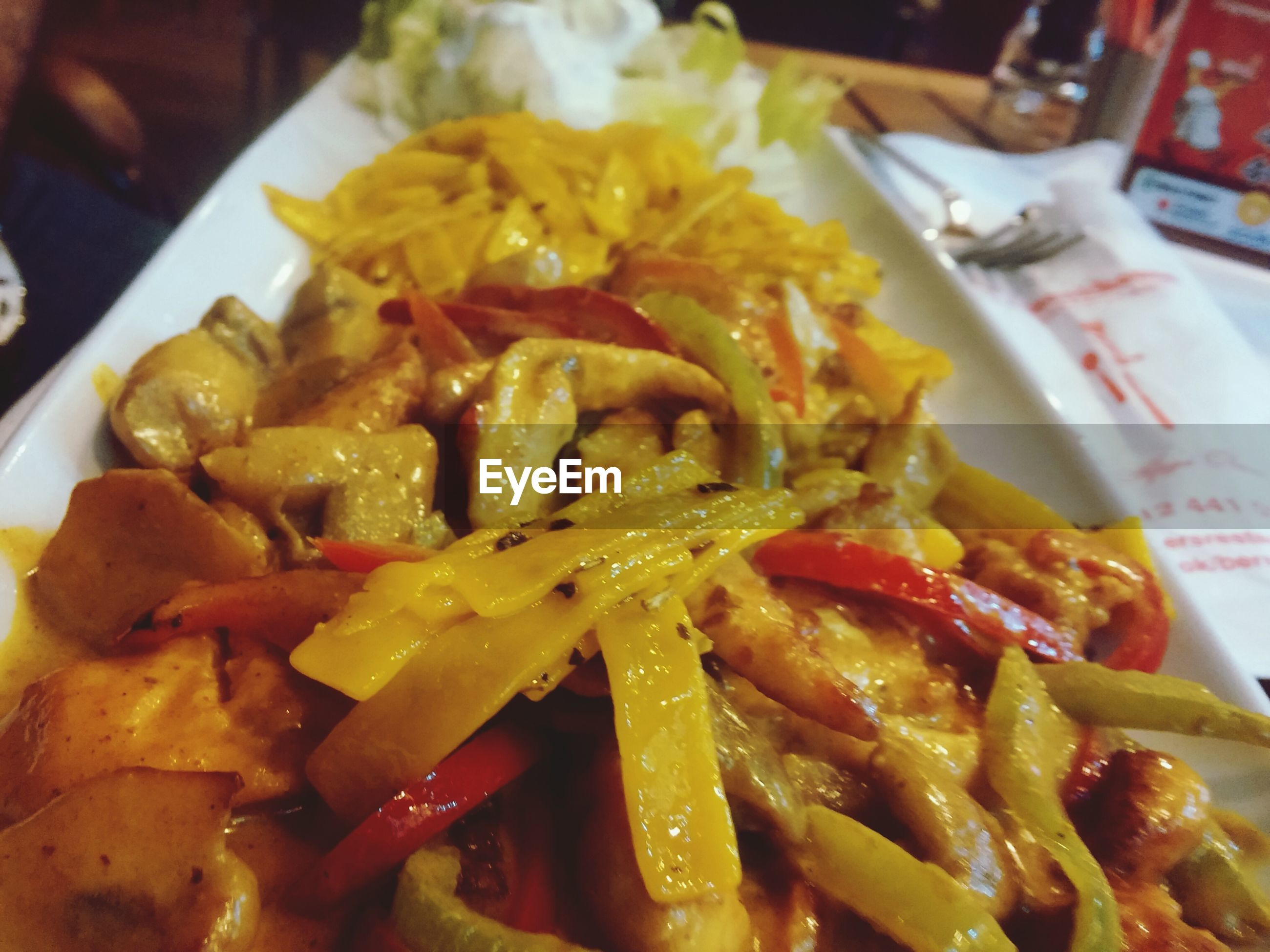 food and drink, food, freshness, indoors, ready-to-eat, still life, close-up, healthy eating, plate, meal, meat, serving size, indulgence, seafood, table, restaurant, french fries, vegetable, served
