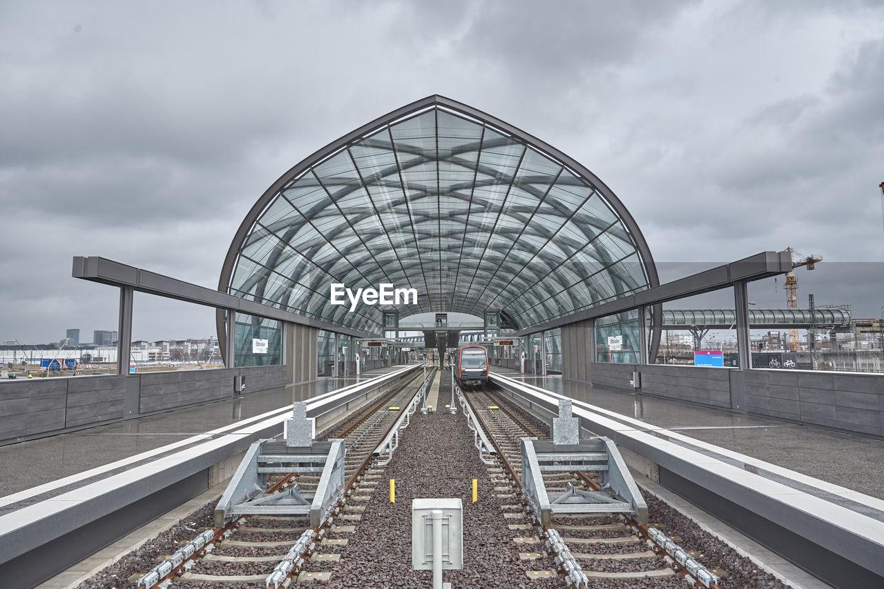 New subway station in hamburg hafen city
