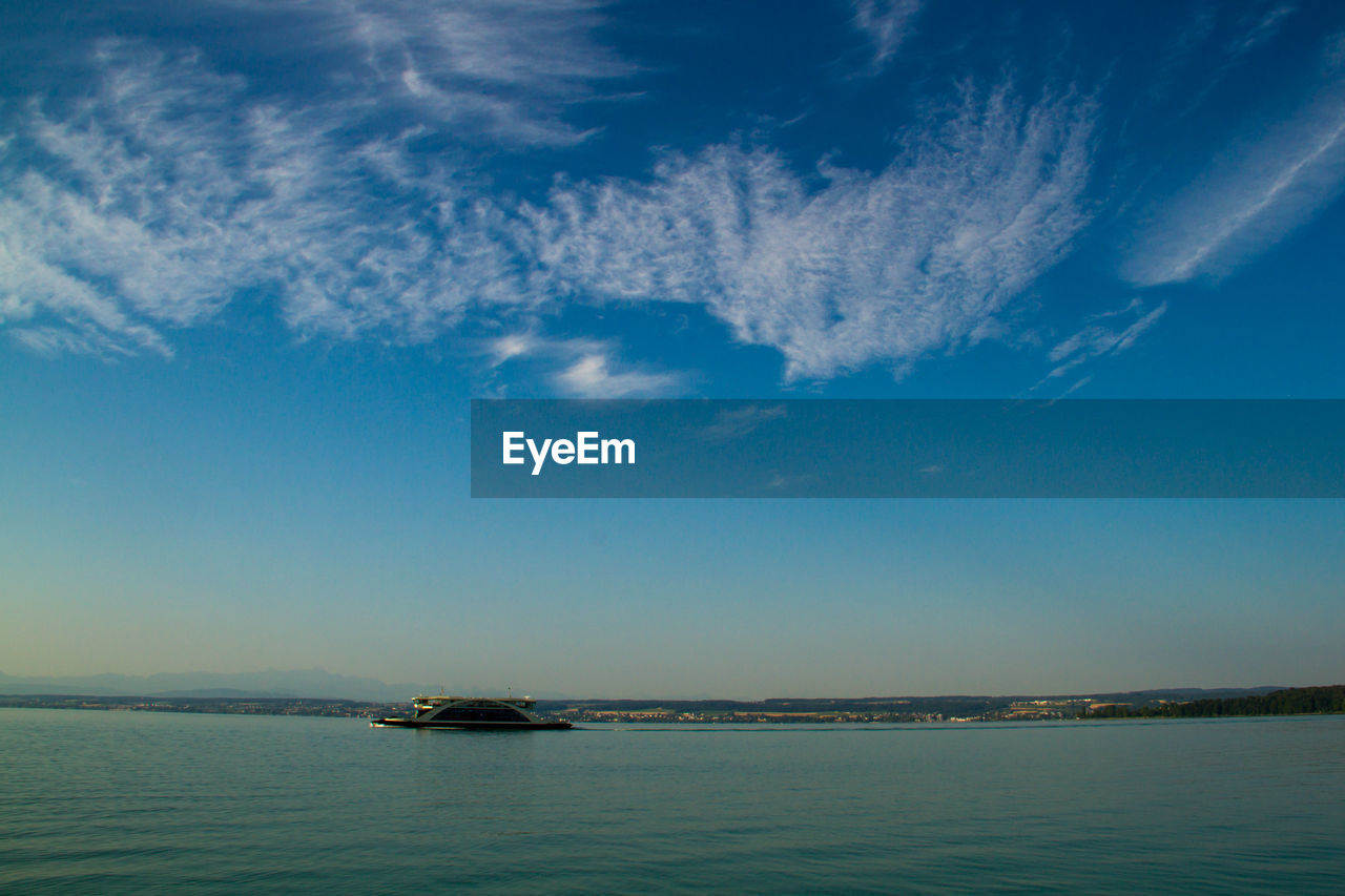 Yacht In Lake Constance Against Sky
