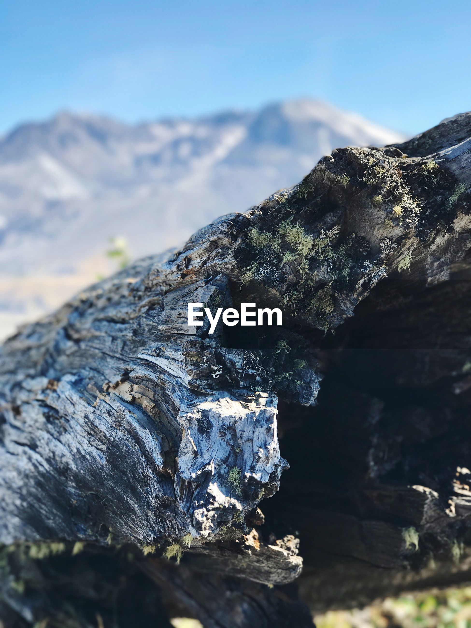 CLOSE-UP OF ROCKS AGAINST MOUNTAIN