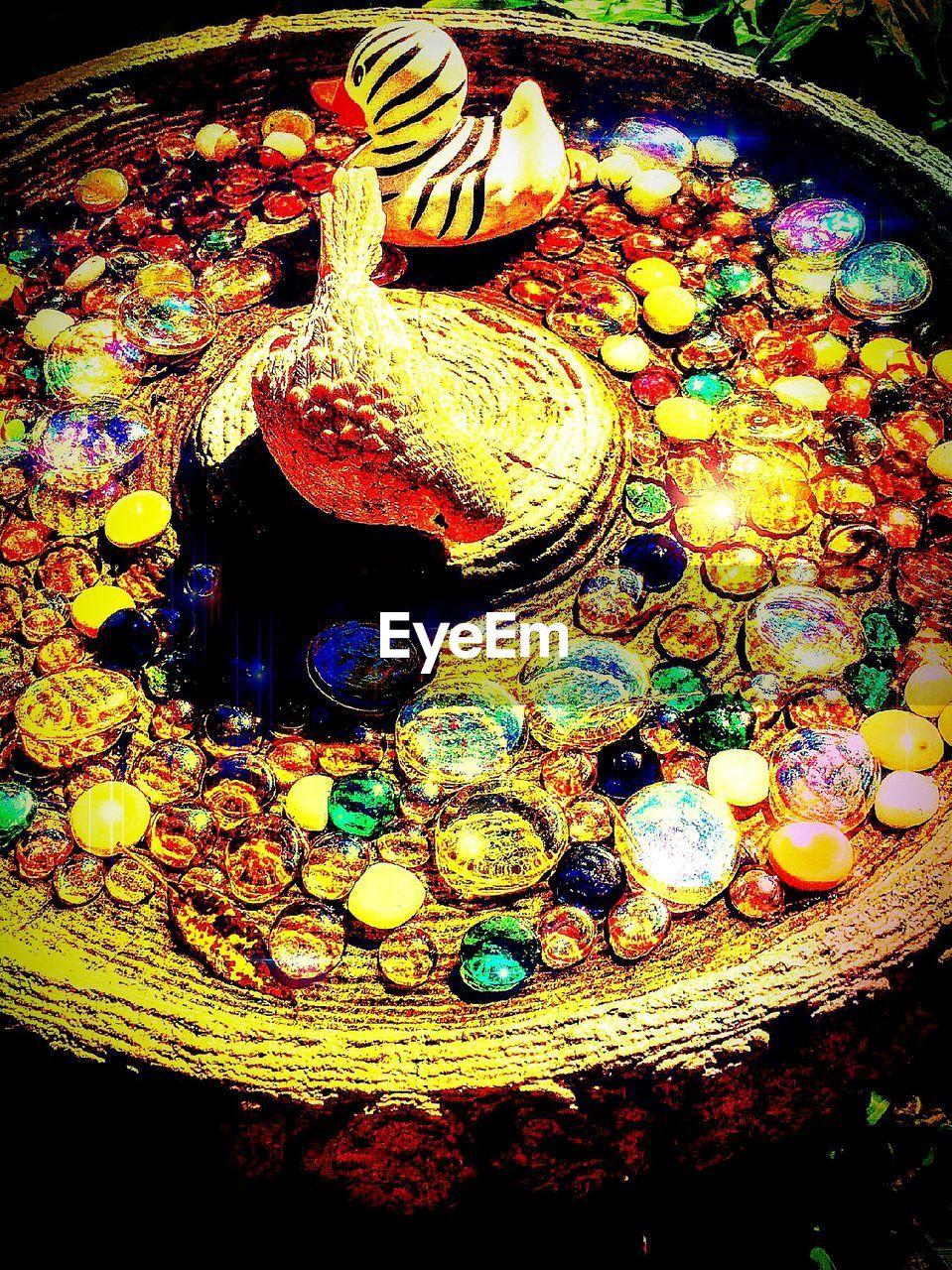 multi colored, lighting equipment, illuminated, no people, night, indoors, close-up, oil lamp, diya - oil lamp