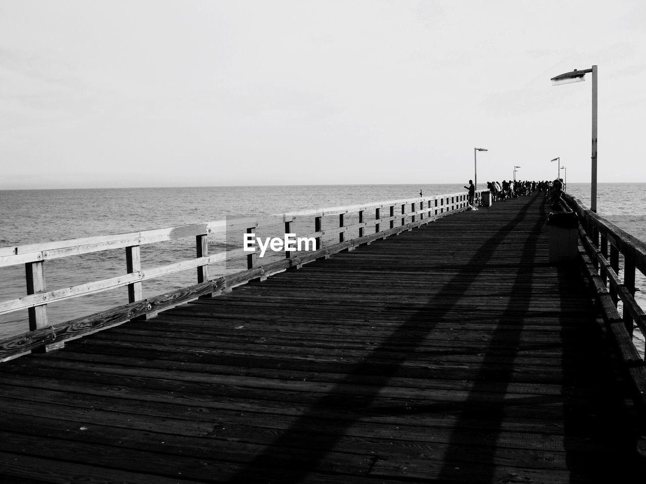 Pier Leading To Sea