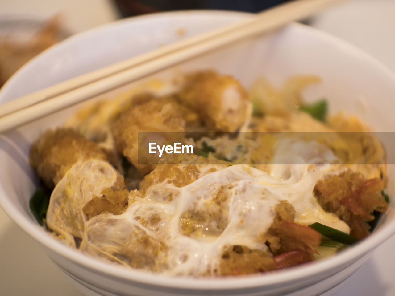 food, food and drink, ready-to-eat, close-up, freshness, healthy eating, still life, serving size, bowl, meal, wellbeing, no people, indoors, kitchen utensil, selective focus, eating utensil, table, spoon, asian food, high angle view, breakfast, temptation, japanese food, garnish, dinner, snack