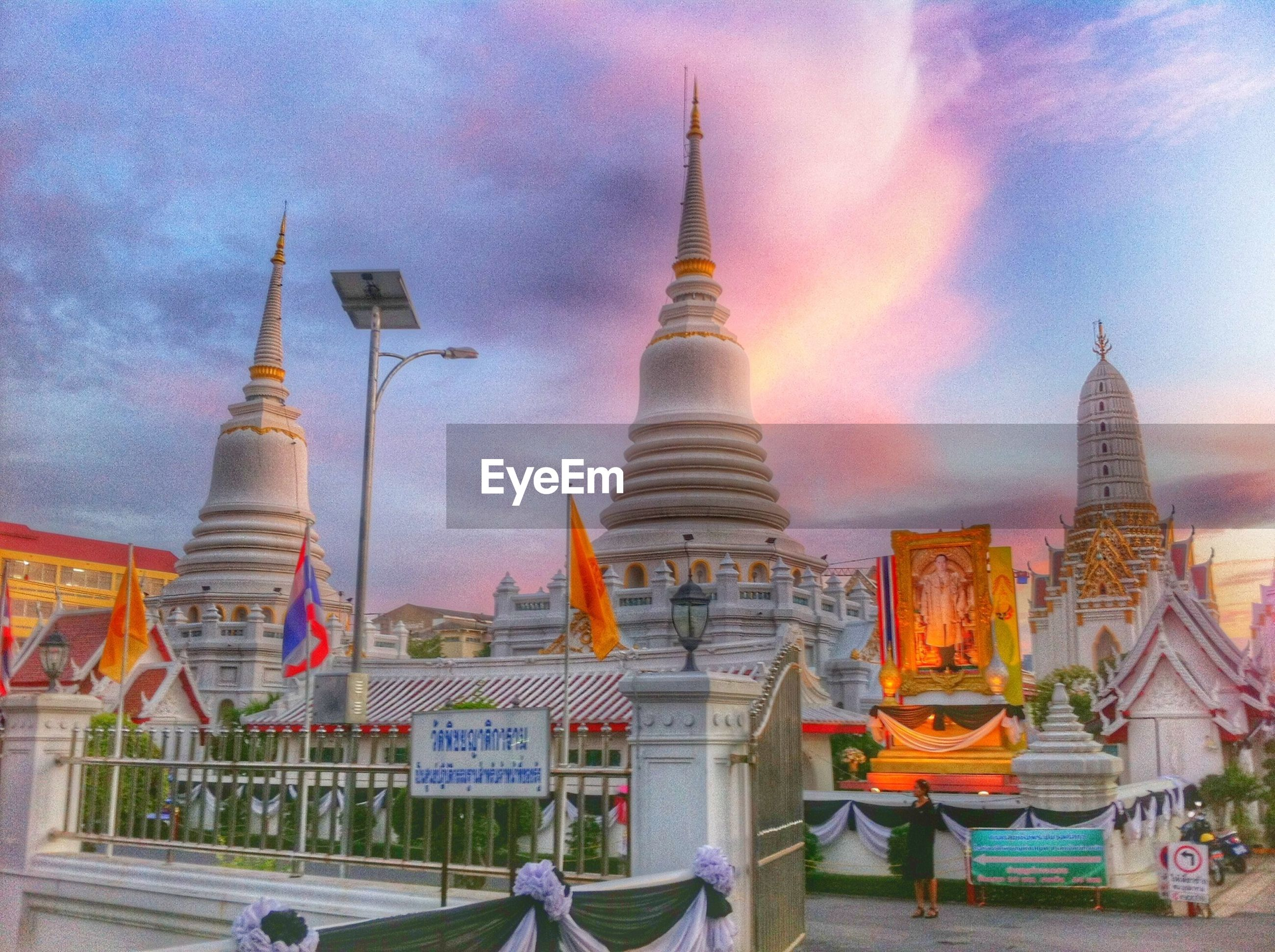 PANORAMIC VIEW OF TEMPLE AGAINST SKY