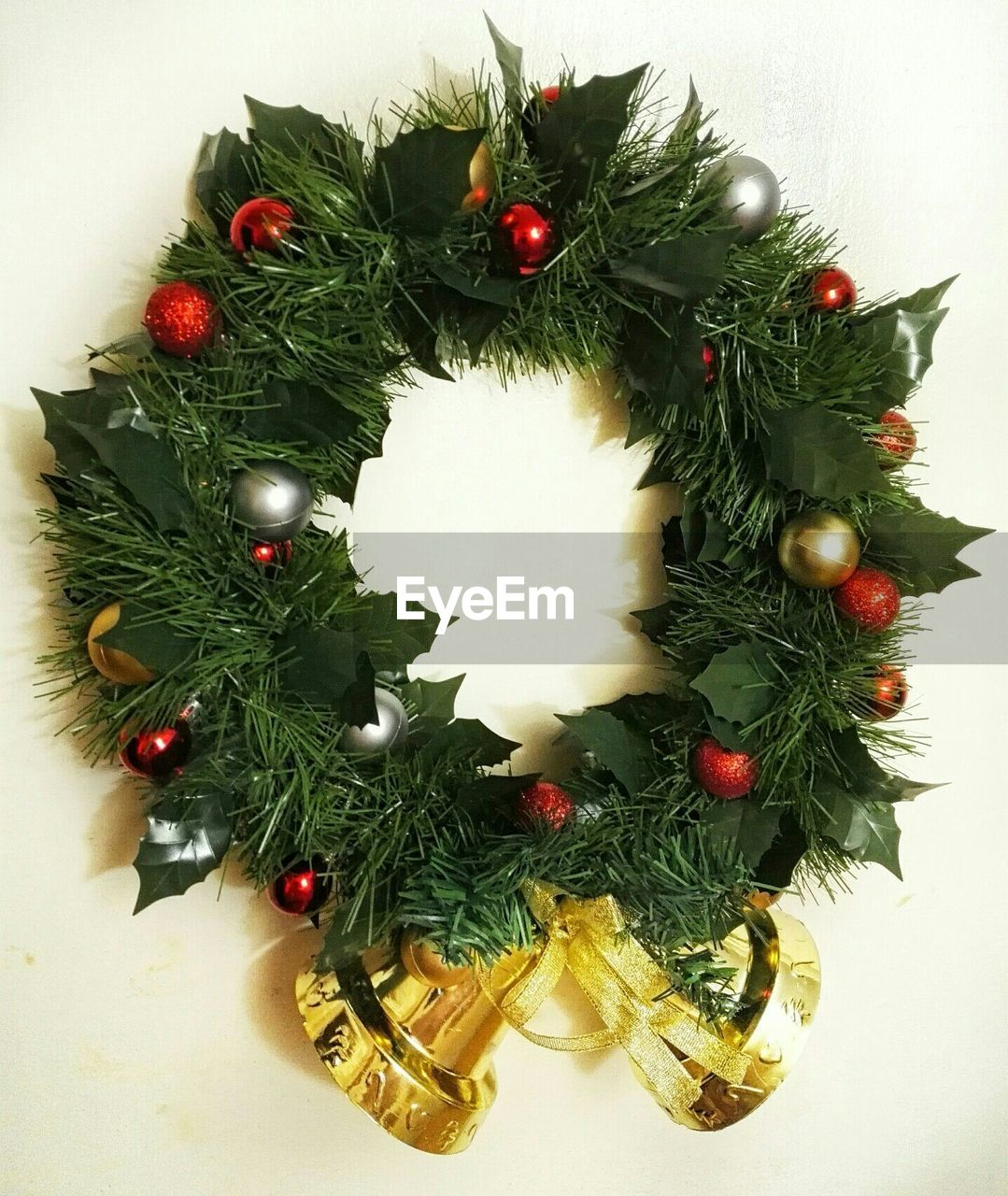 High Angle View Of Wreath On Table
