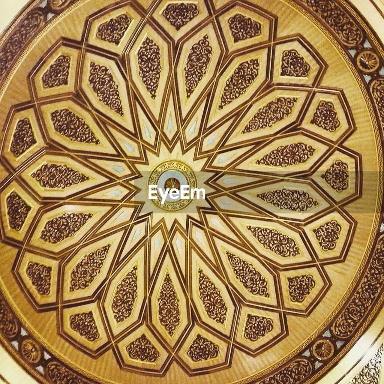 ceiling, design, pattern, floral pattern, ornate, architecture and art, backgrounds, yellow, indoors, architecture, no people, close-up, day
