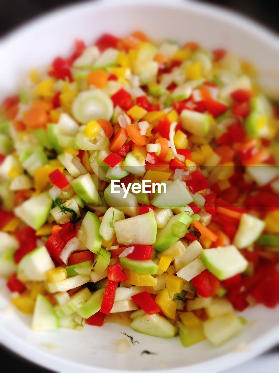 food and drink, food, healthy eating, salad, freshness, vegetable, bowl, chopped, tomato, red, vegetarian food, no people, indoors, close-up, ready-to-eat, day
