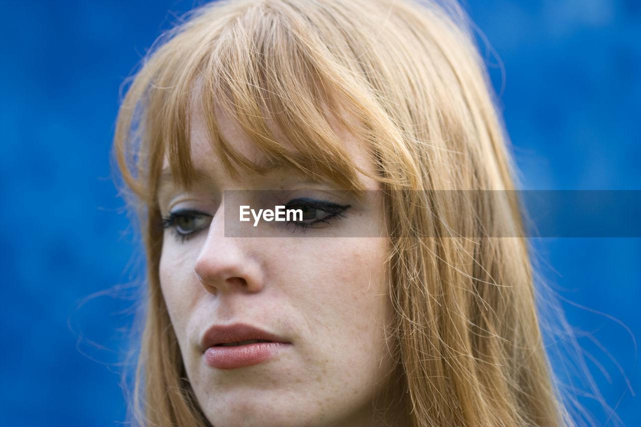 Close-up portrait of sad woman