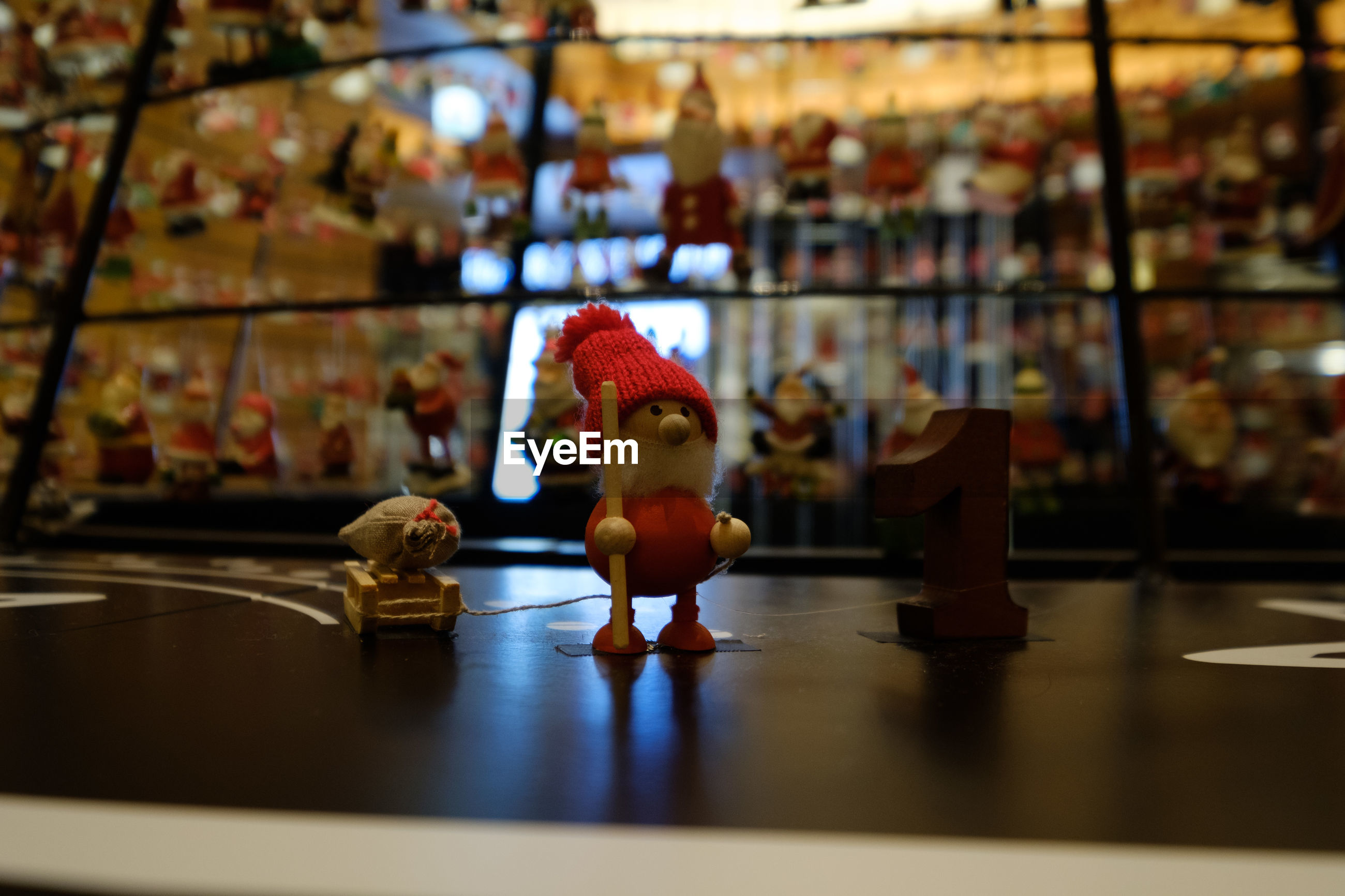 Close-up of toy on table for sale at store