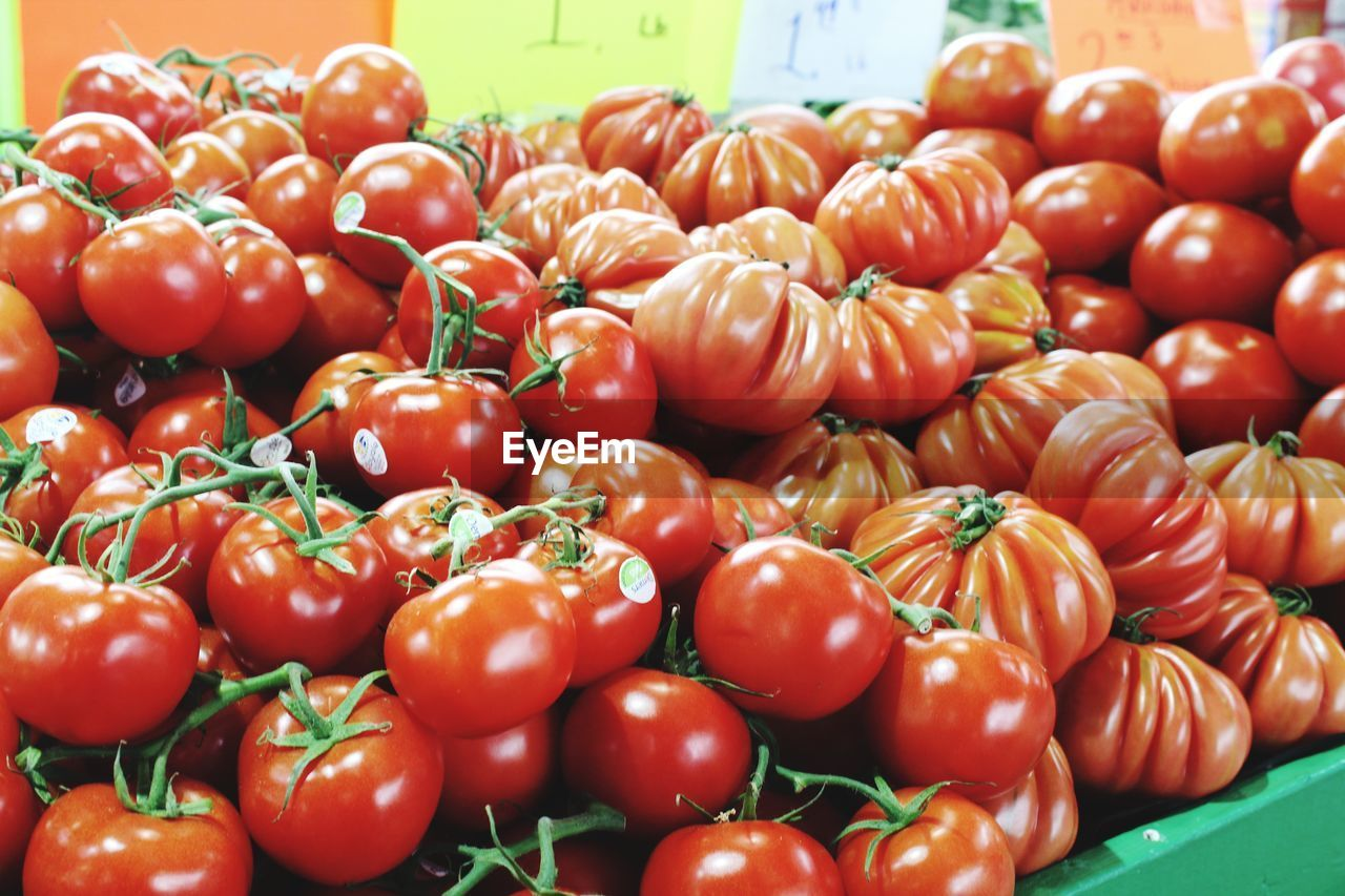 vegetable, food and drink, freshness, healthy eating, wellbeing, red, large group of objects, tomato, market, food, for sale, fruit, retail, abundance, raw food, market stall, no people, still life, close-up, heap, sale, retail display, outdoors, ripe