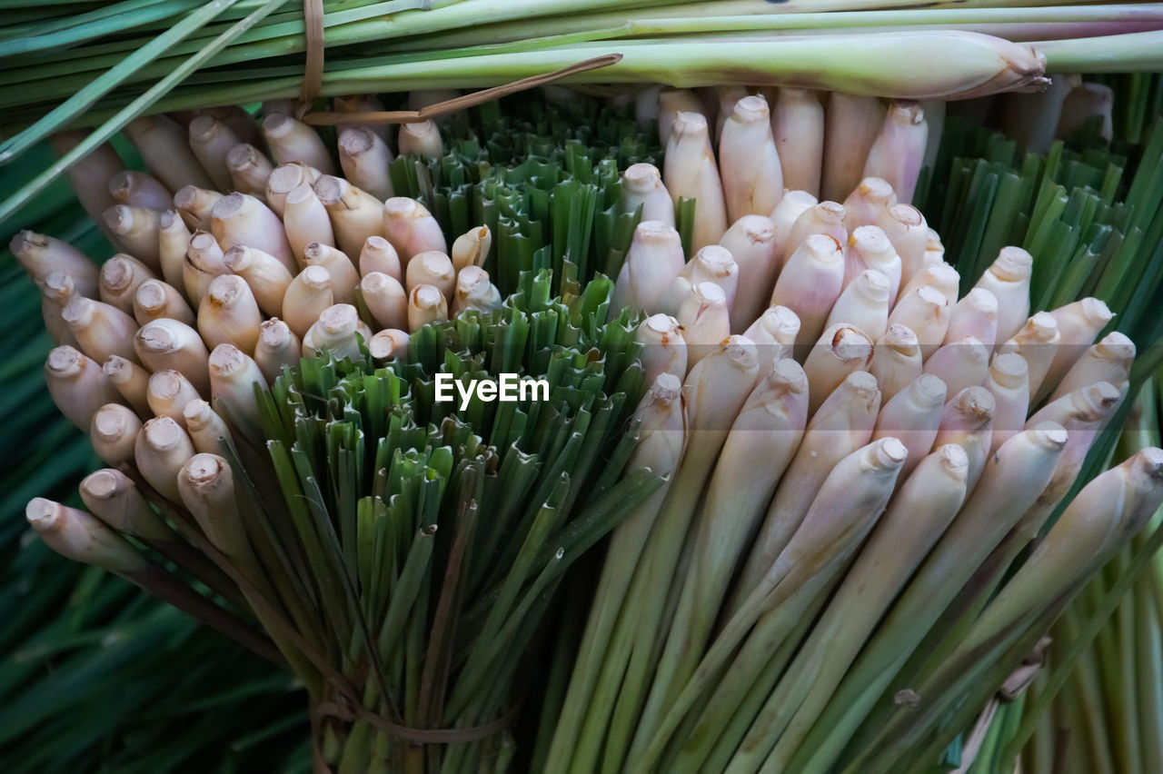 Close-Up Of Spring Onions At Market For Sale