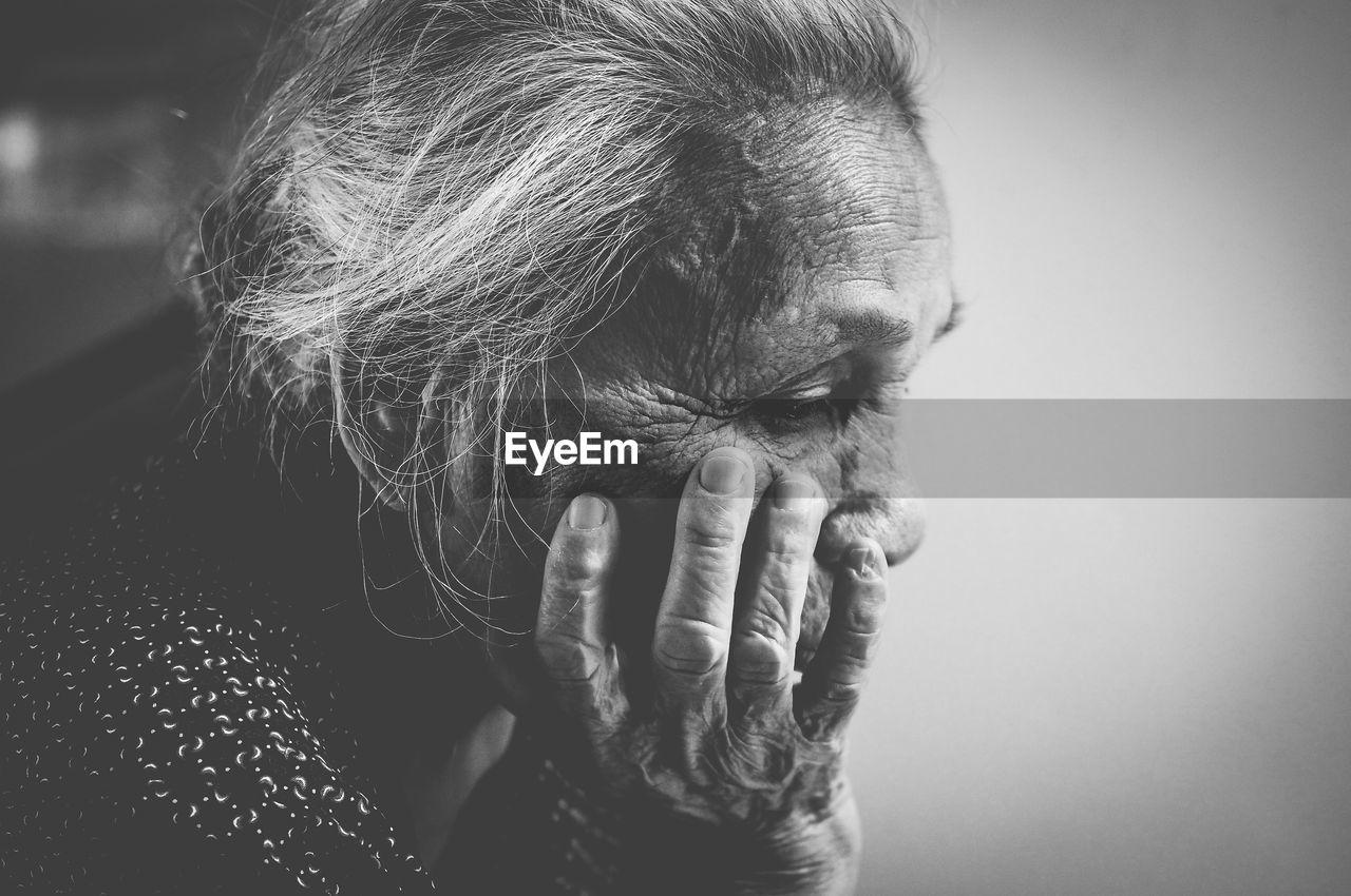 Close-Up Of Senior Woman