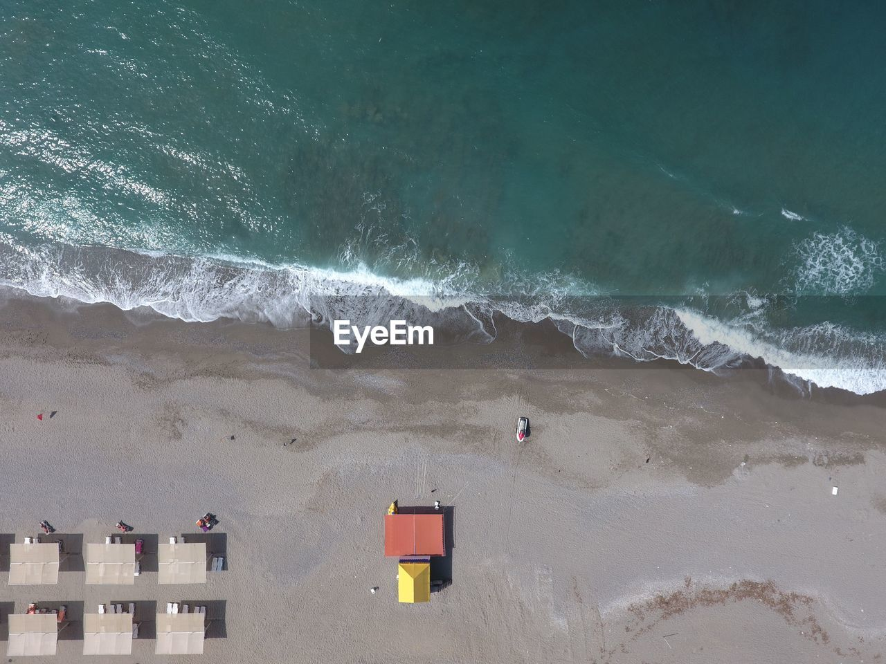 Aerial View Of Sea During Summer
