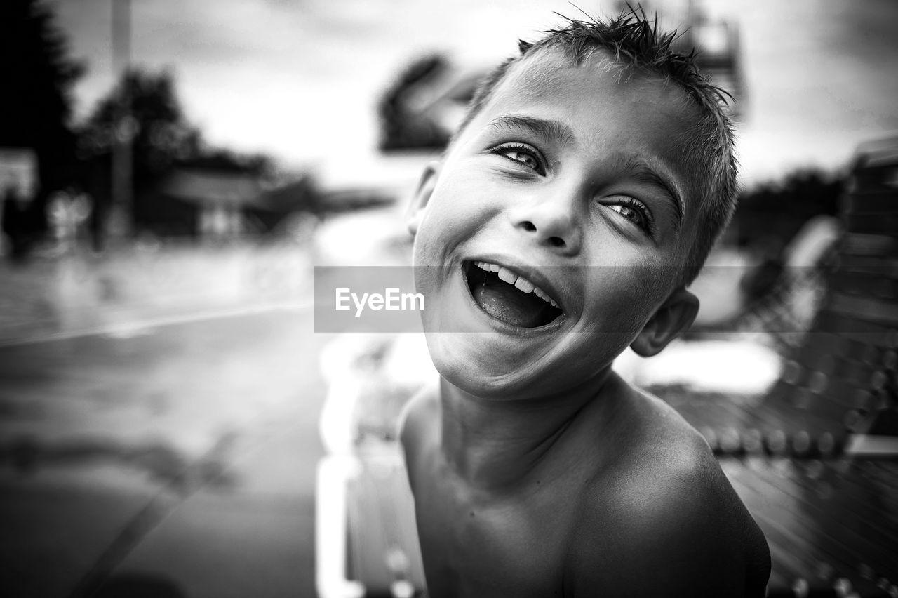 Close-up of happy boy
