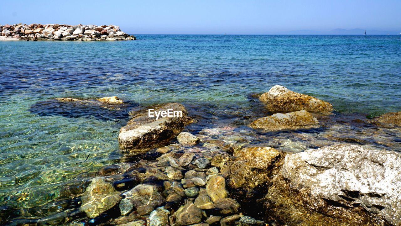 Surface Level Of Calm Blue Sea