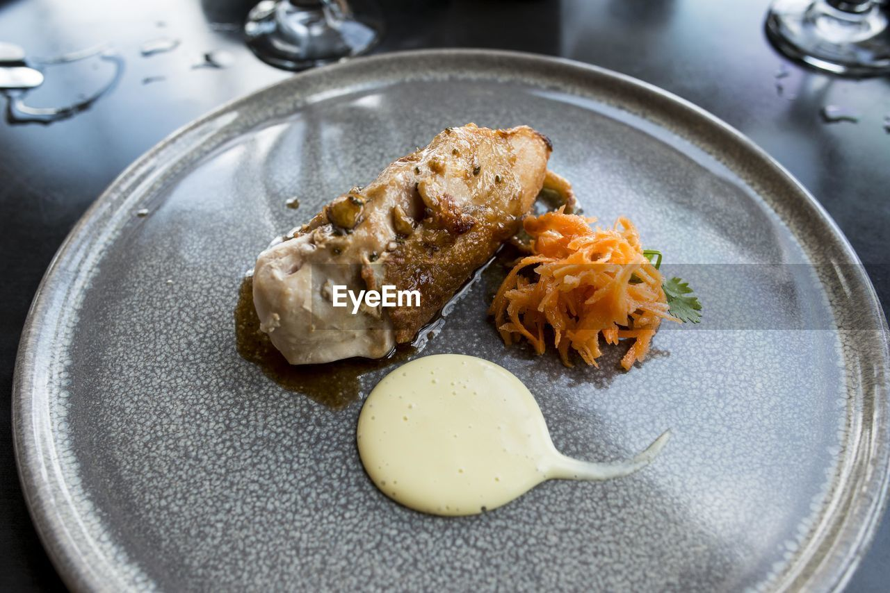 Delicious Food Styled Elegantly On Plate