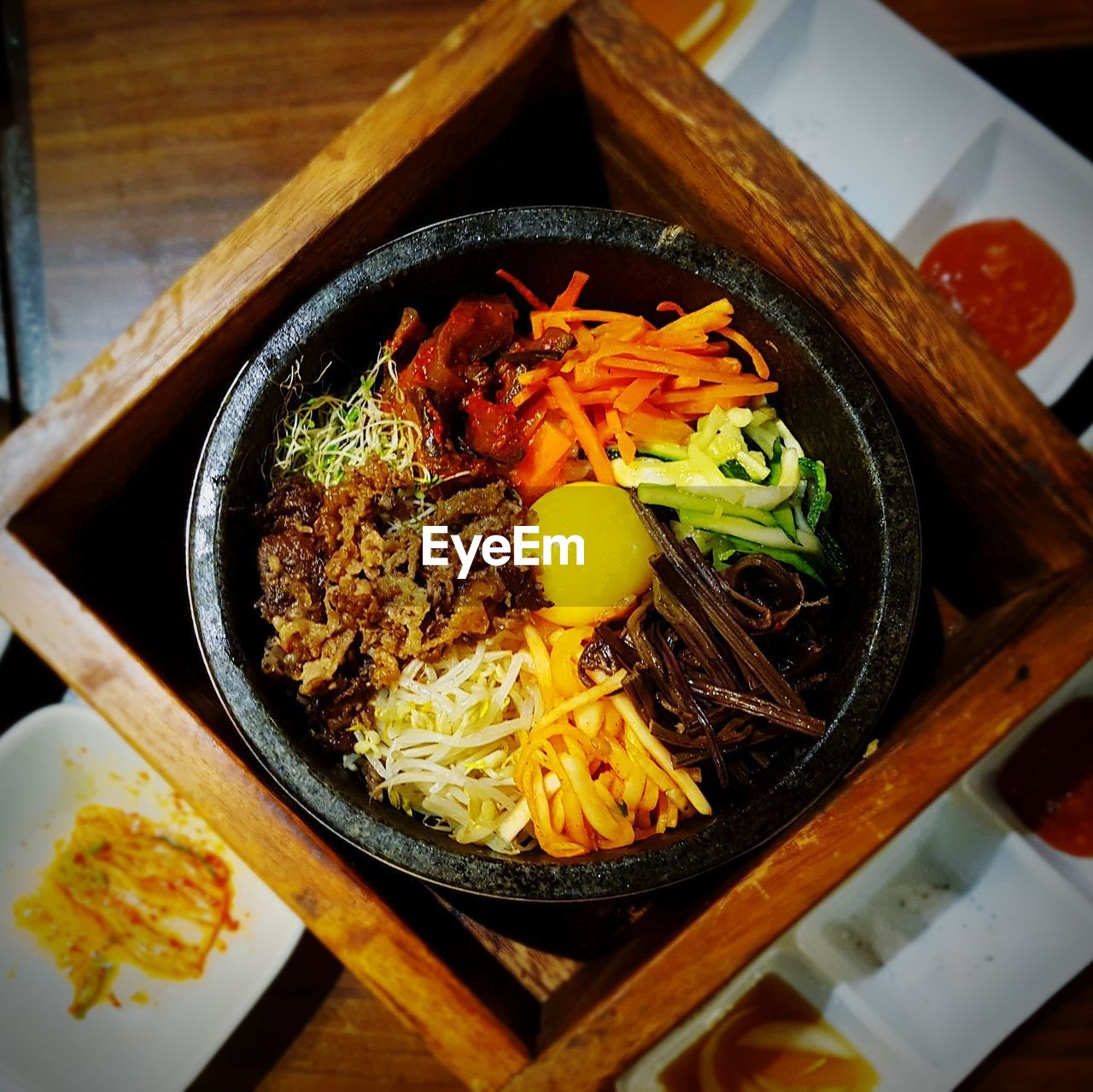 food and drink, noodles, food, indoors, ready-to-eat, healthy eating, table, freshness, bowl, serving size, no people, high angle view, chopsticks, japanese food, close-up, korean food, soup, day
