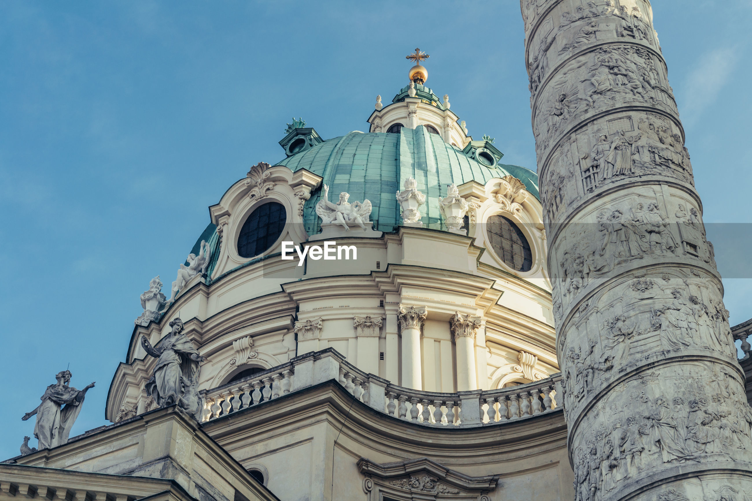 Low angle view of karlskirche against sky